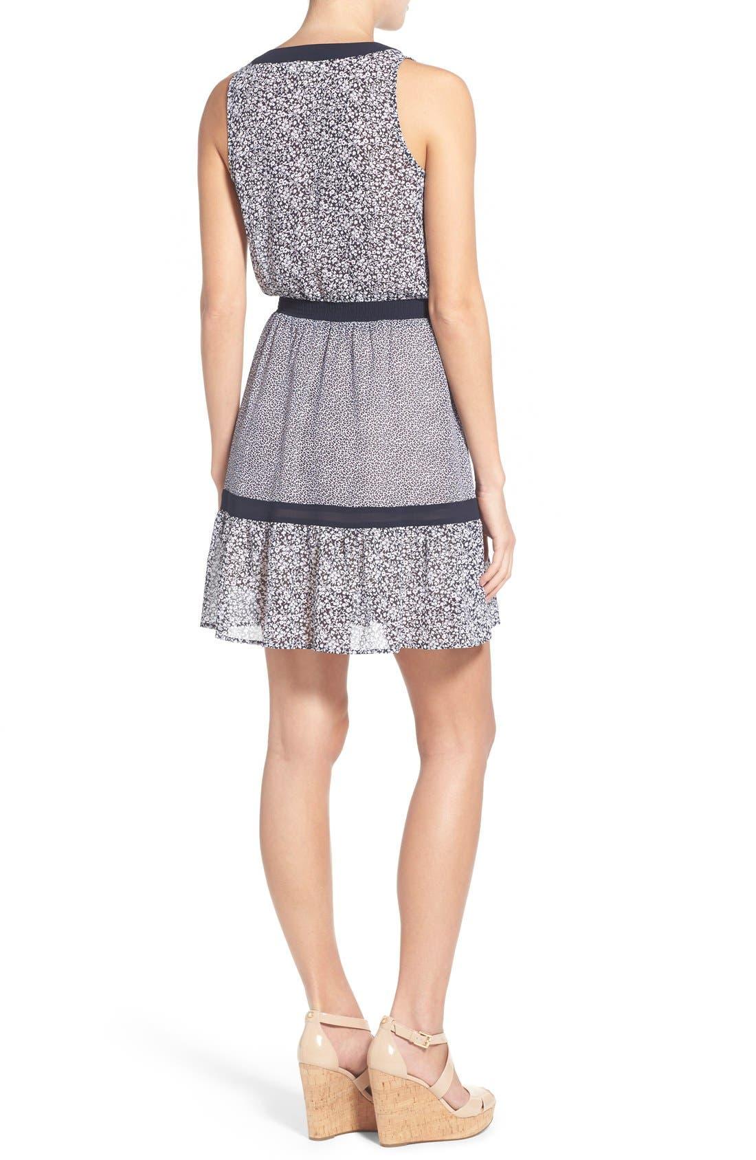 Alternate Image 2  - MICHAEL Michael Kors Mixed Print Sleeveless Georgette Fit & Flare Dress