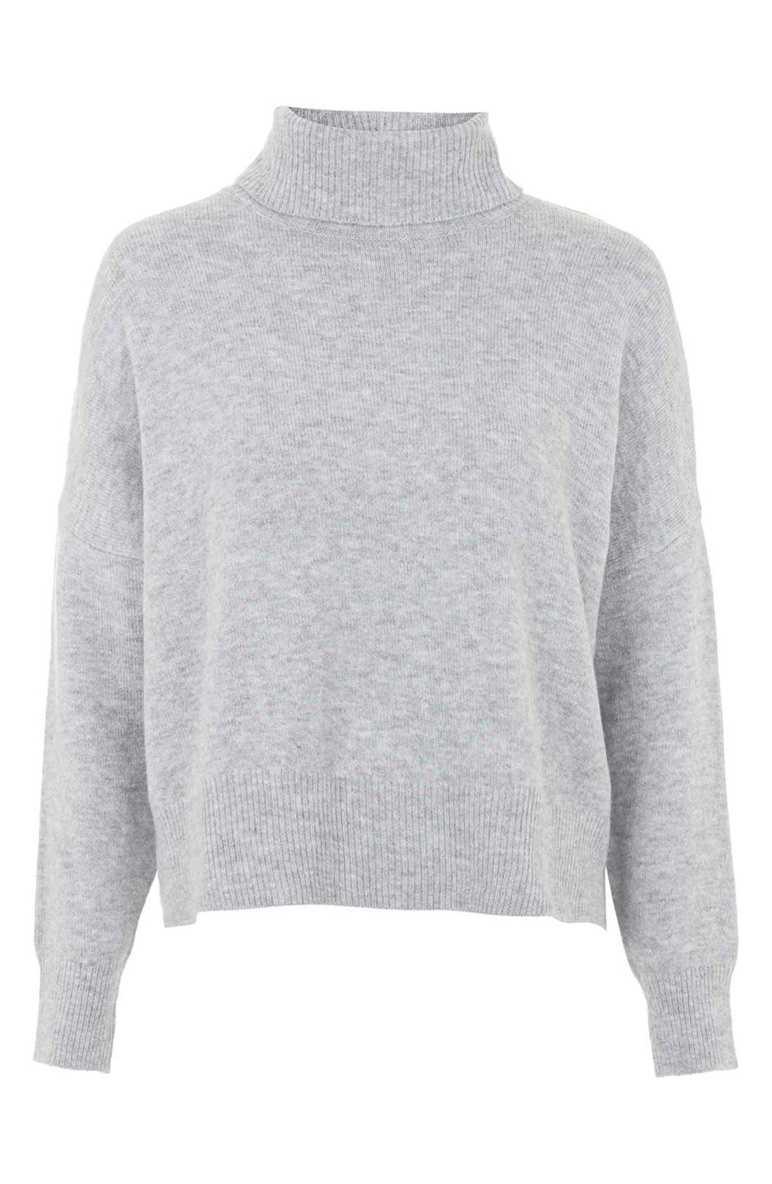 Alternate Image 4  - TopshopBack Zip Turtleneck Sweater