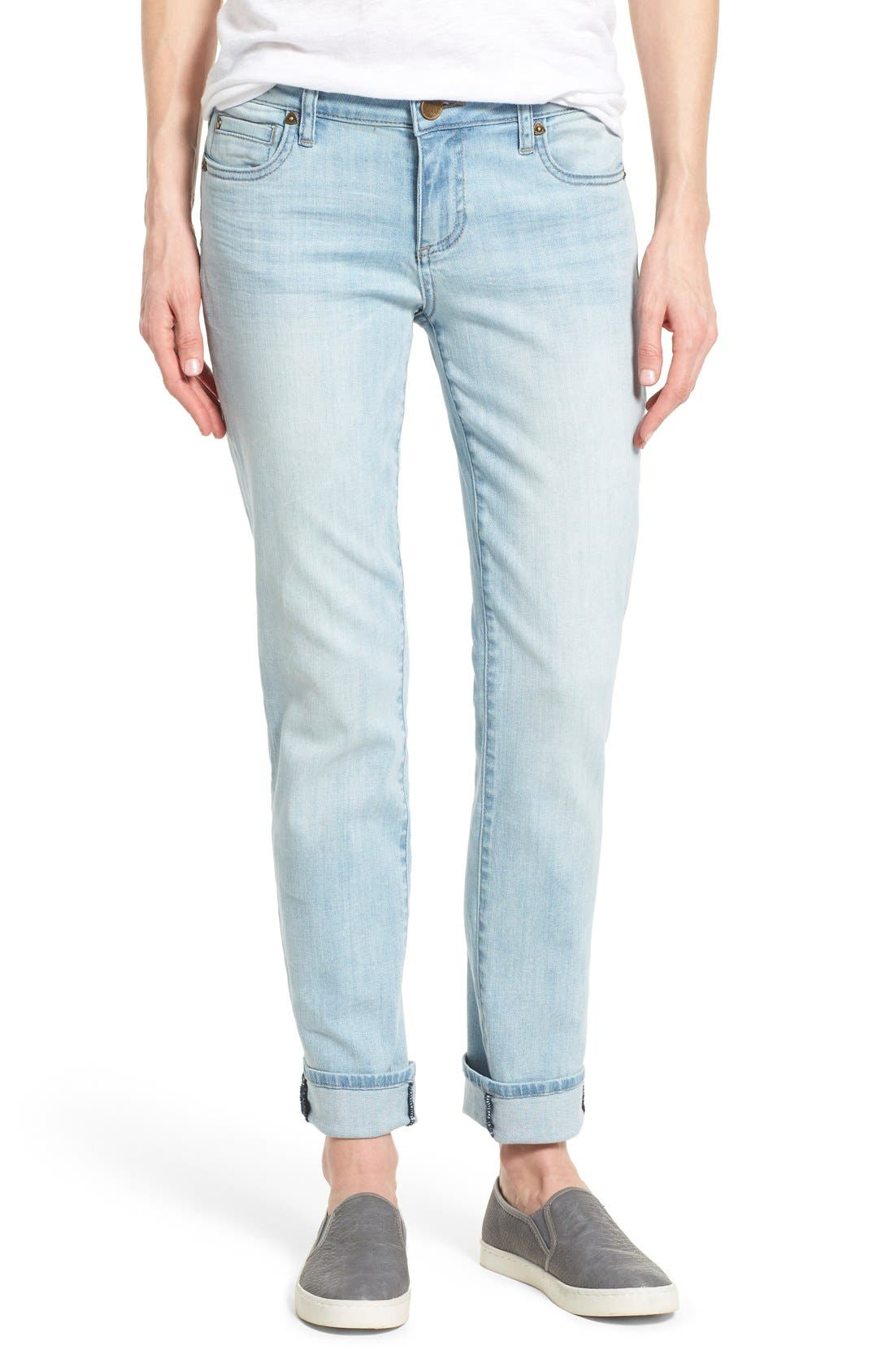 Main Image - KUT from the Kloth 'Catherine' Stretch Slim Boyfriend Jeans (Artistic)