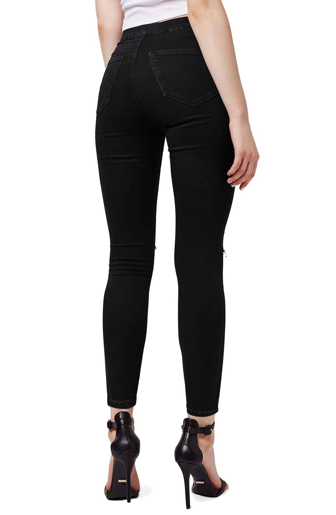 Alternate Image 3  - Topshop Moto 'Joni' Ripped Skinny Jeans (Petite)