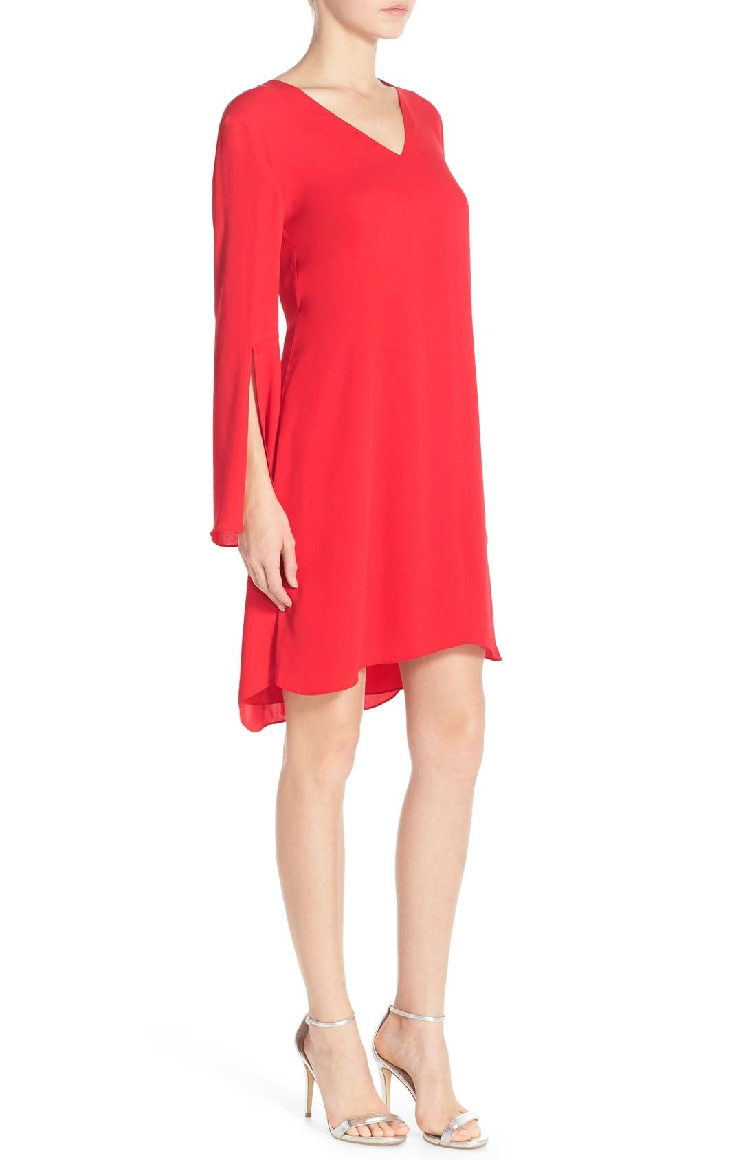 Alternate Image 4  - Chelsea28 Bell Sleeve Chiffon A-Line Dress