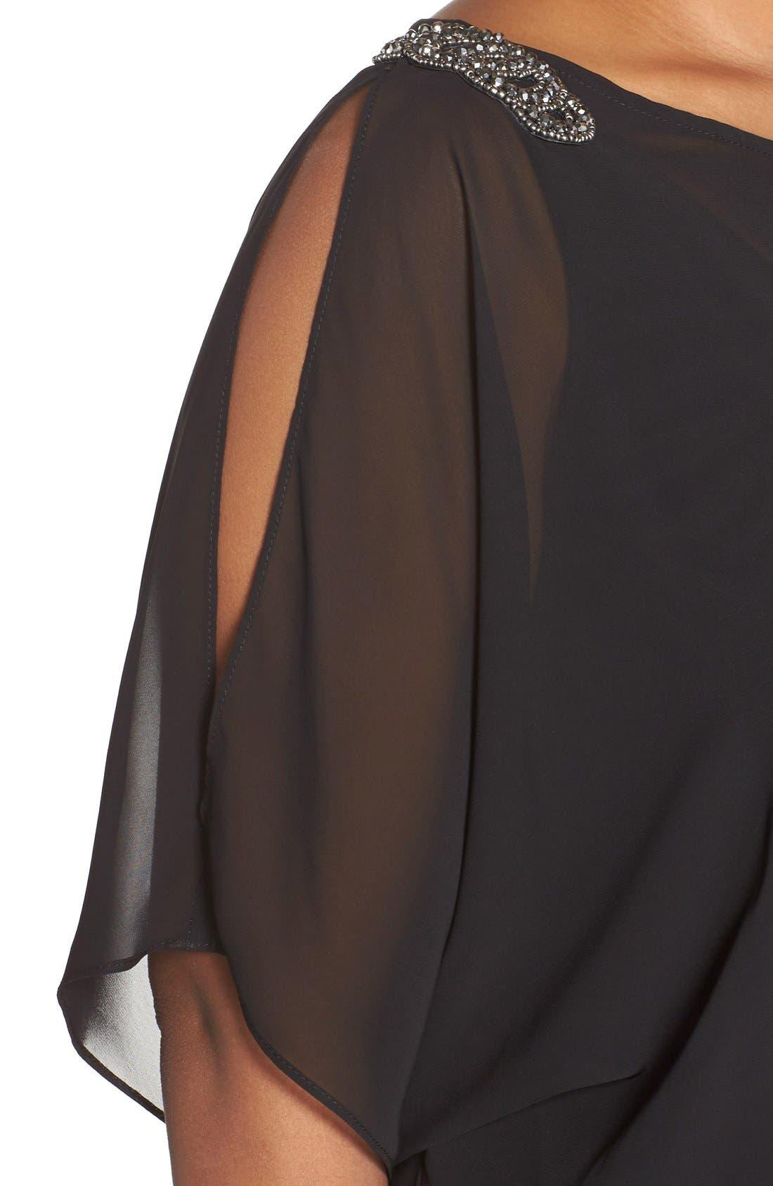 Alternate Image 5  - Xscape Beaded Cold Shoulder Dress (Plus Size)