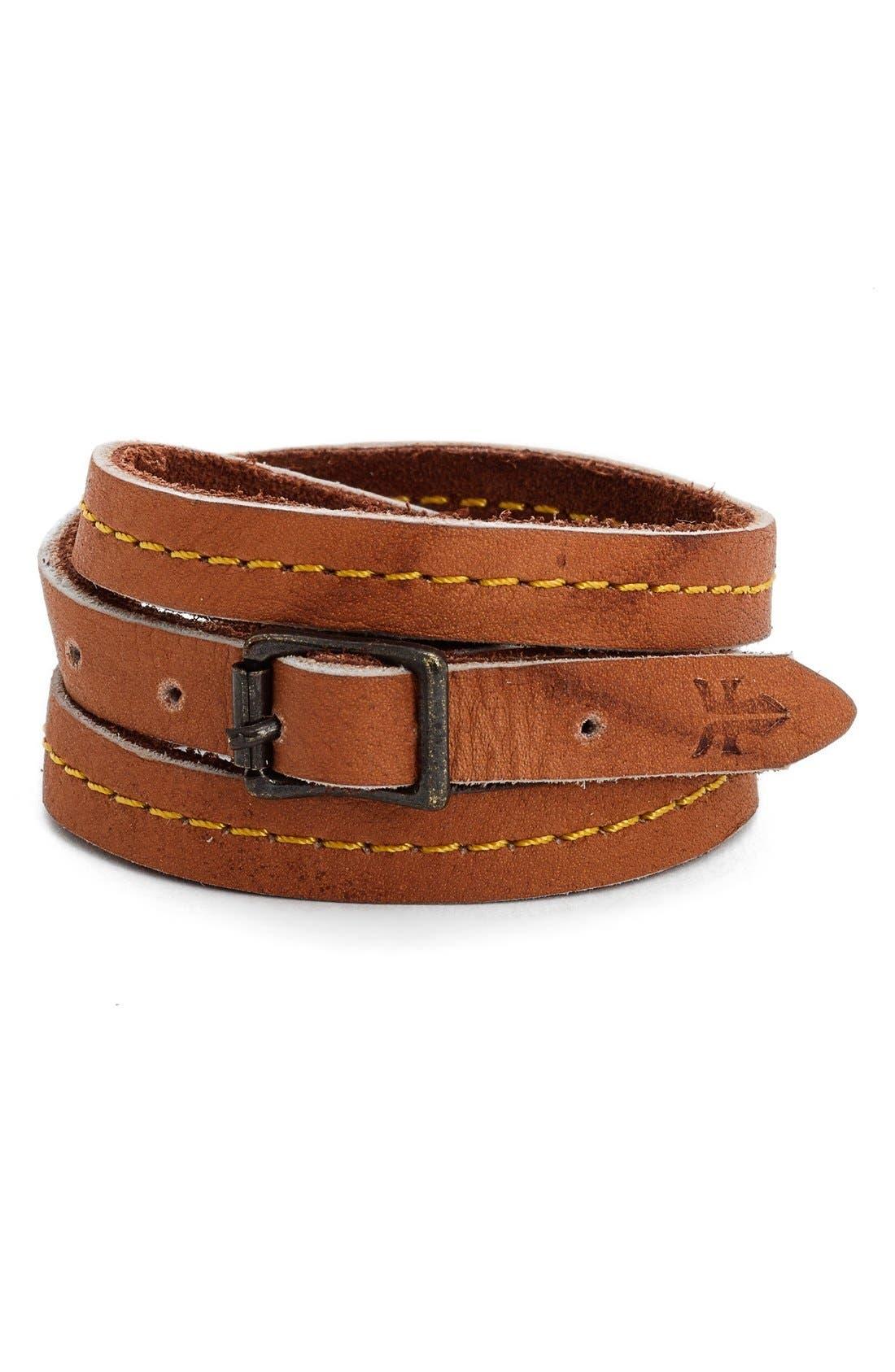 Main Image - Frye 'Campus' Leather Wrap Bracelet