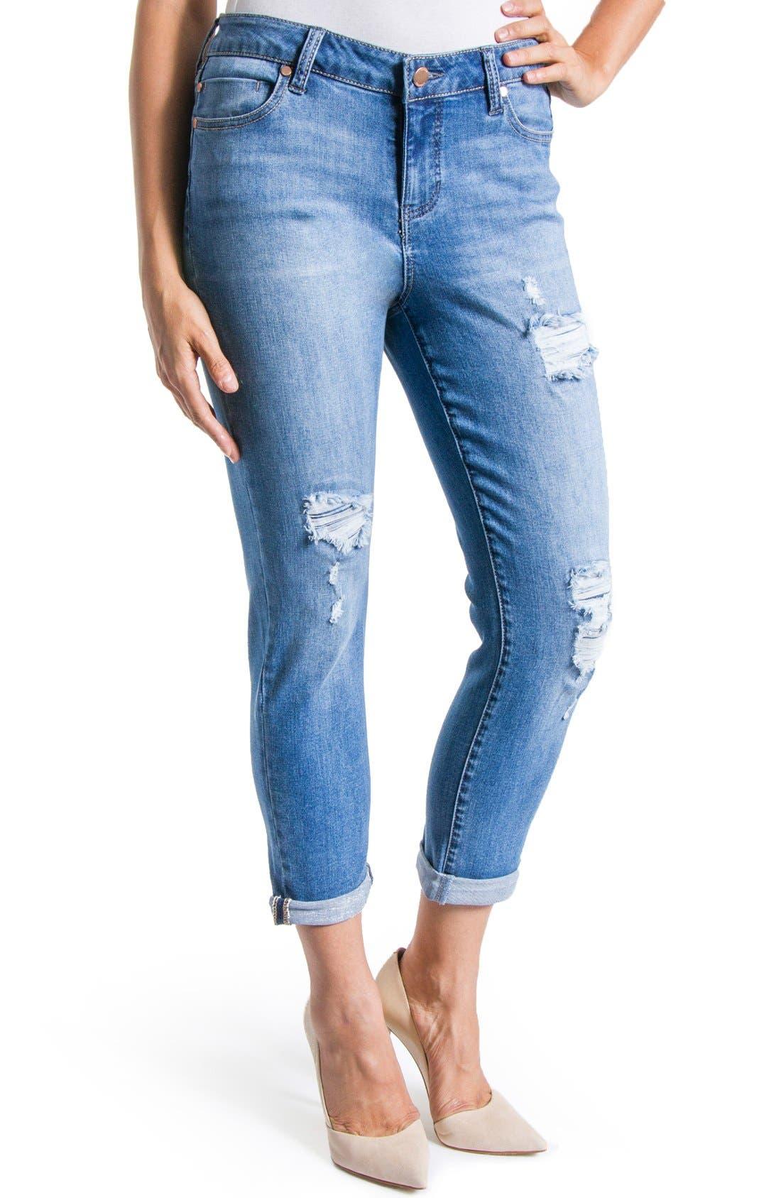 Alternate Image 4  - Liverpool Jeans Company 'Corey' Distressed Crop Boyfriend Jeans (Melbourne)