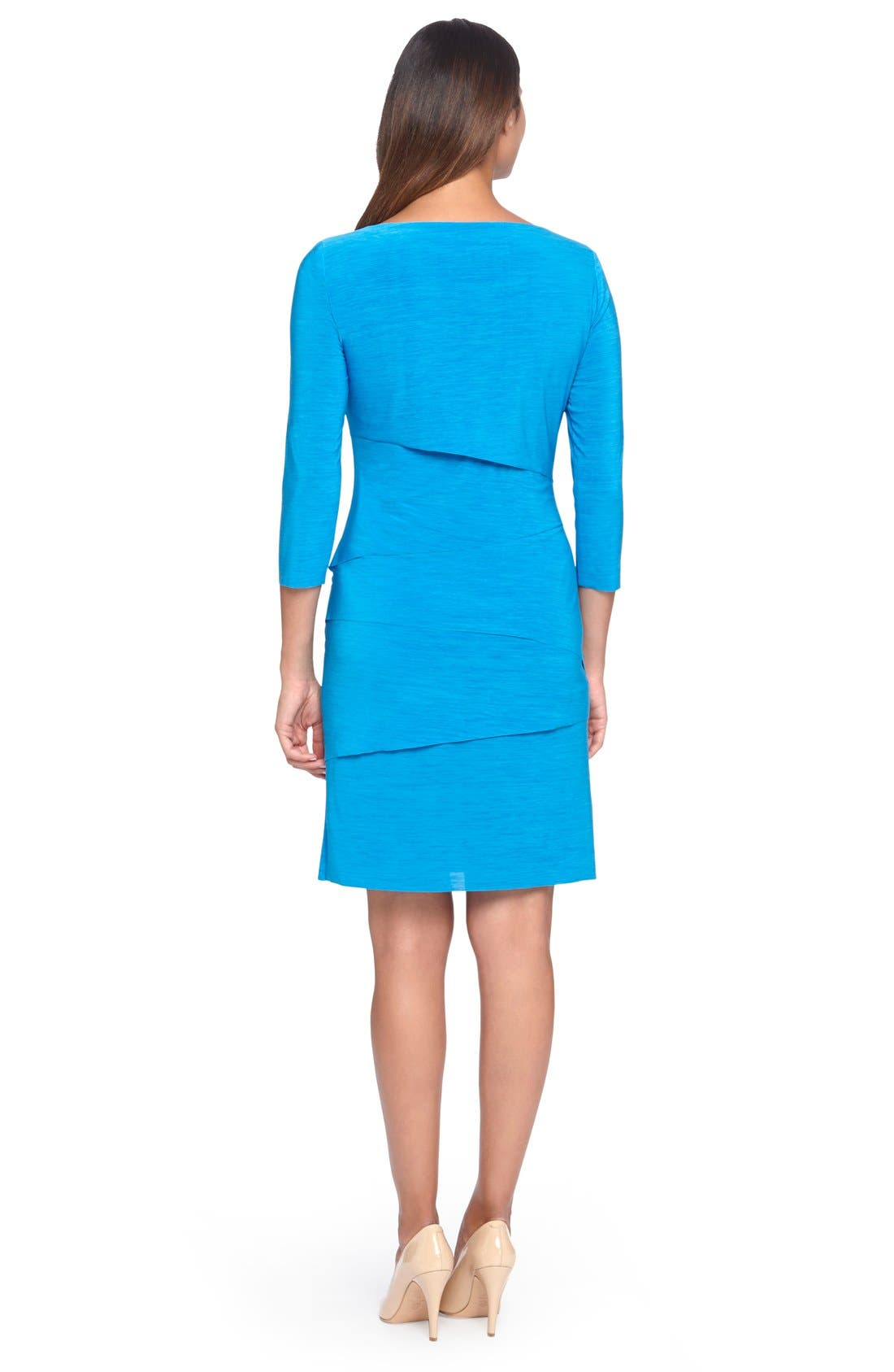 Alternate Image 2  - Tahari Tiered Jersey Sheath Dress (Regular & Petite)