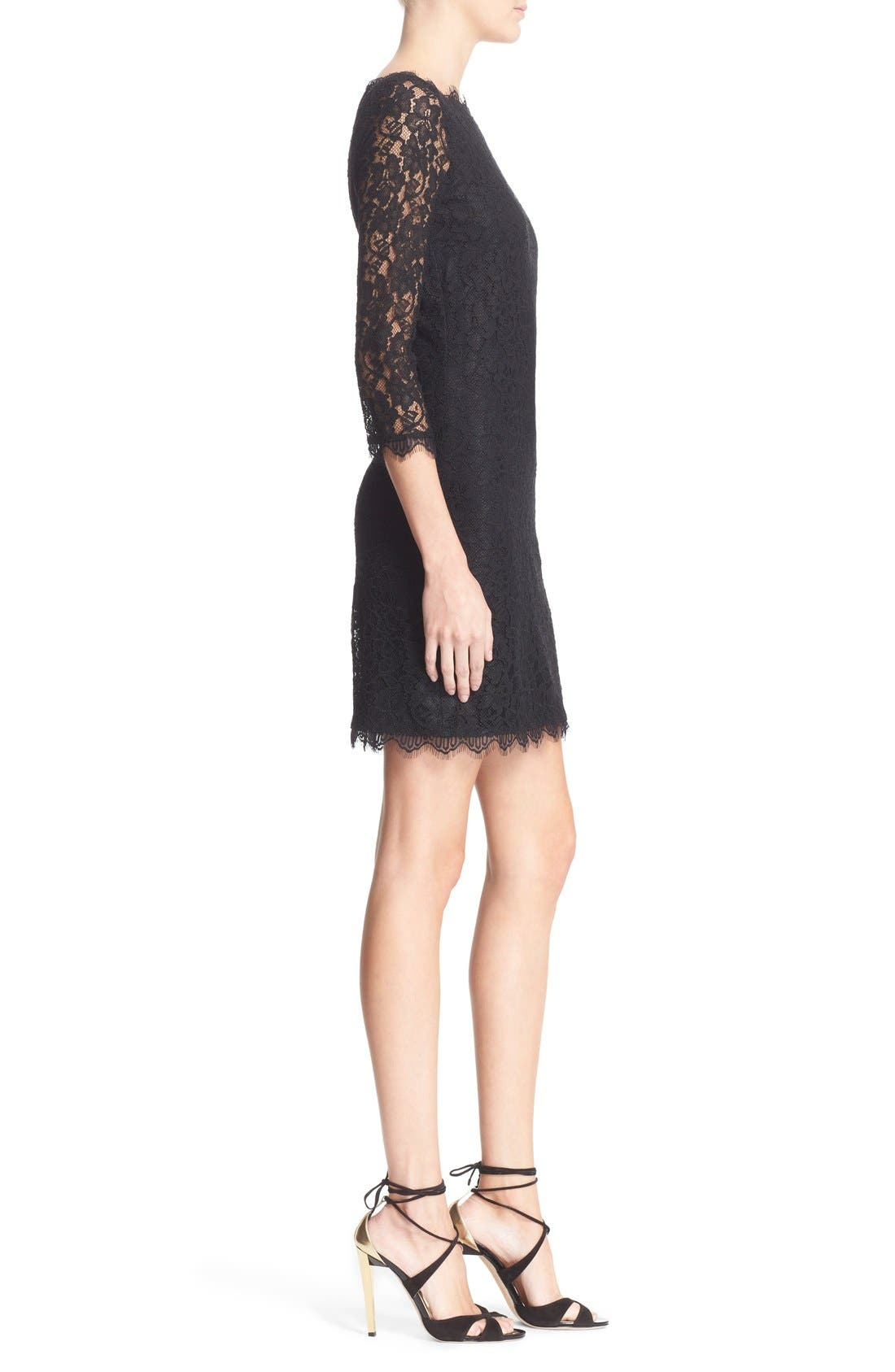 Alternate Image 3  - Diane von Furstenberg 'Zarita' Lace Sheath Dress