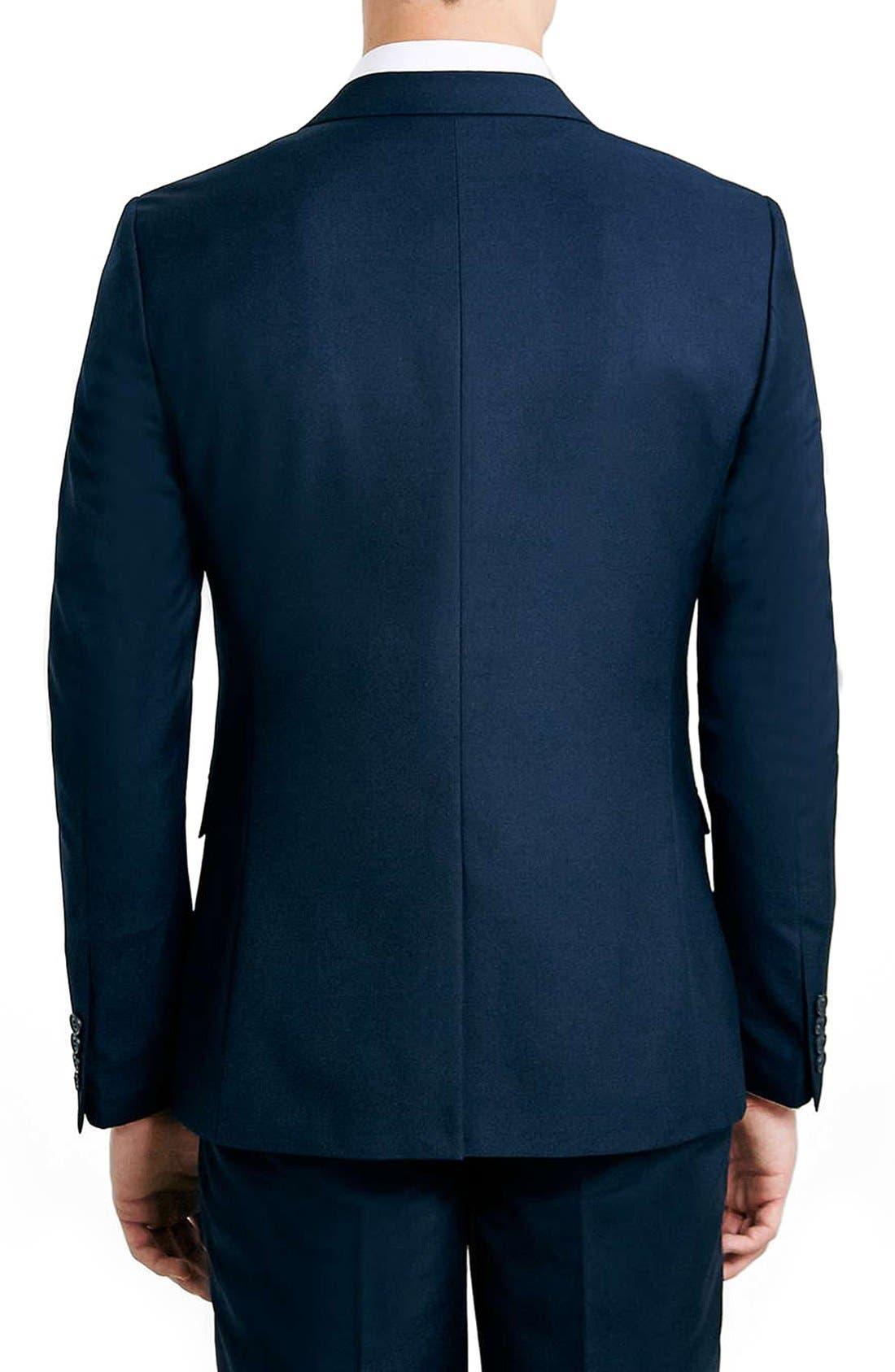 Alternate Image 3  - Topman Navy Skinny Fit Suit Jacket