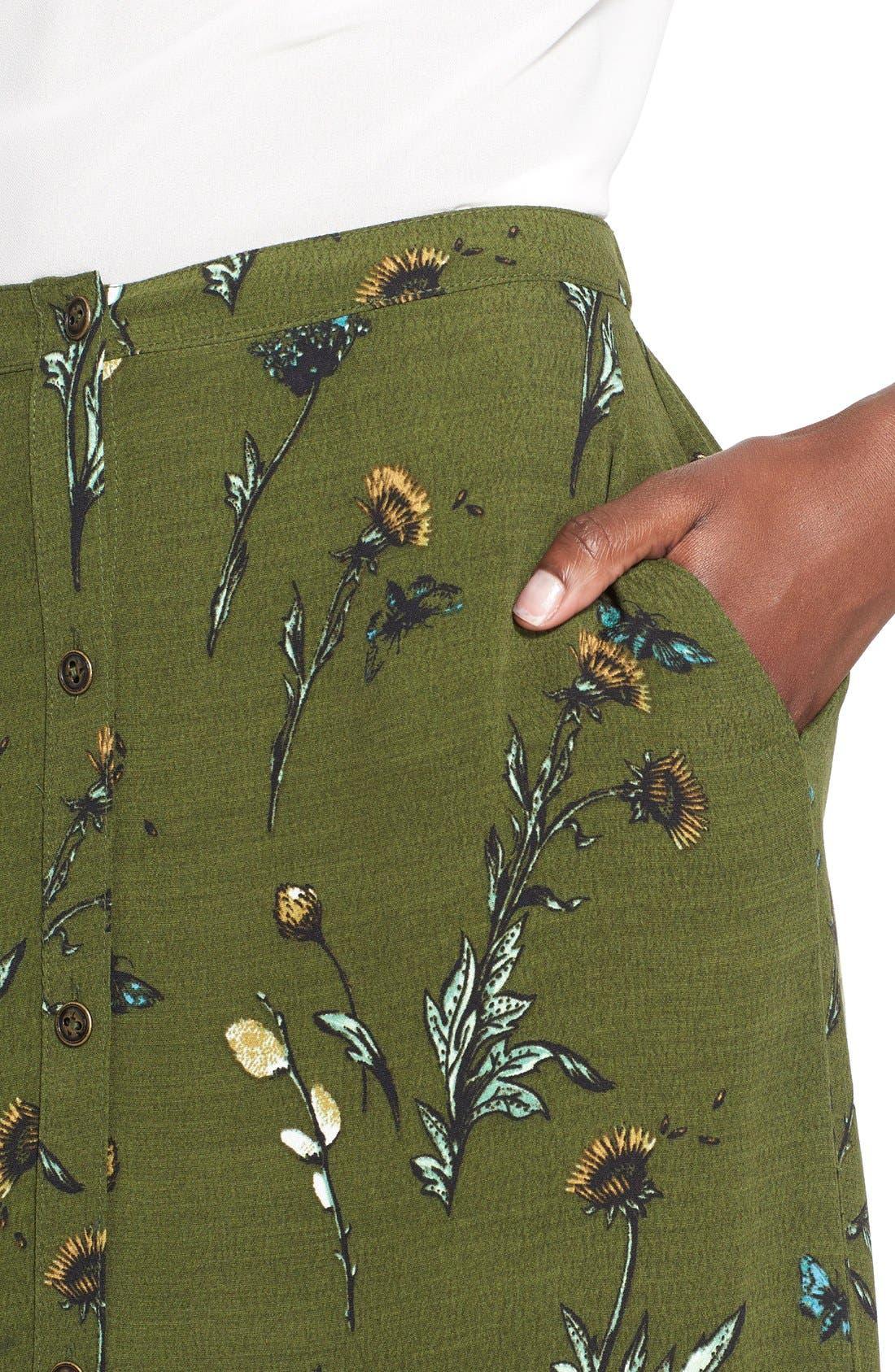 Alternate Image 4  - Hinge Floral Print Maxi Skirt