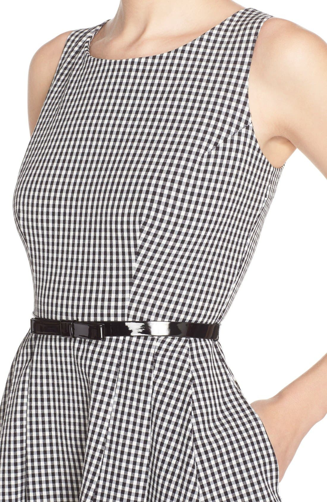 Alternate Image 5  - Gabby Skye Gingham Fit & Flare Dress