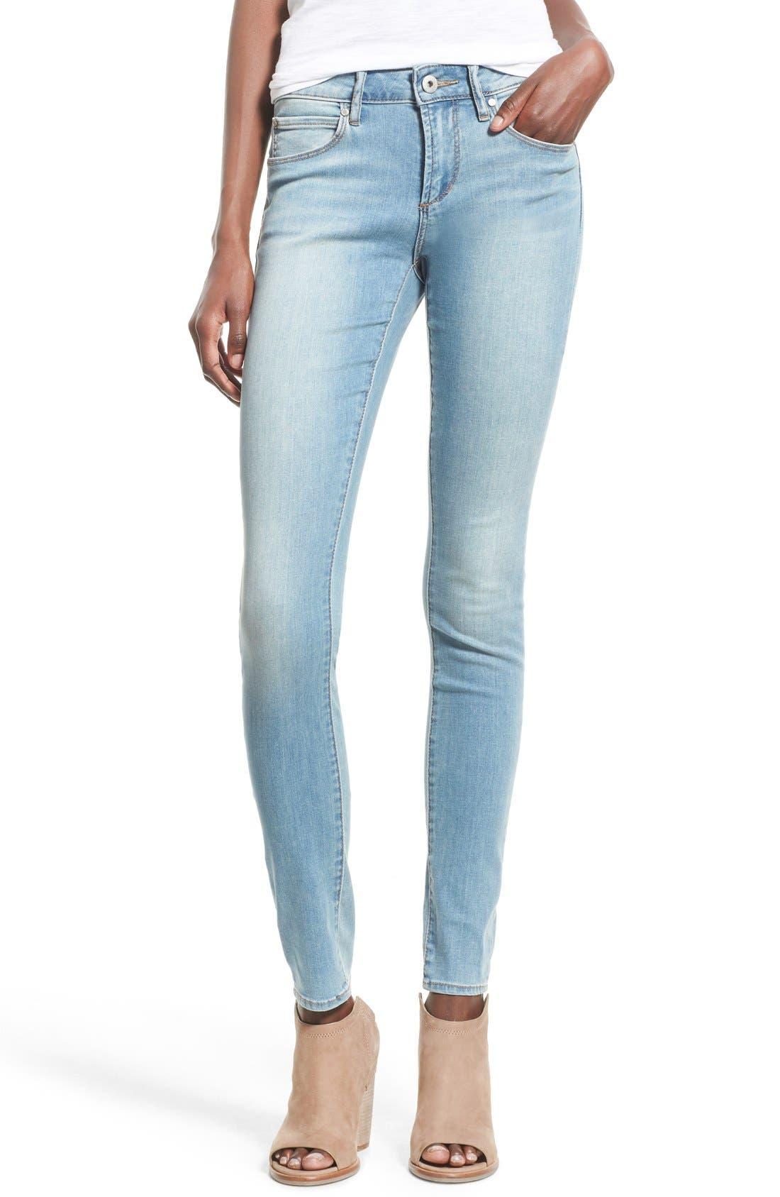 Alternate Image 1 Selected - Articles of Society 'Mya' Skinny Jeans (Indigo Wash)