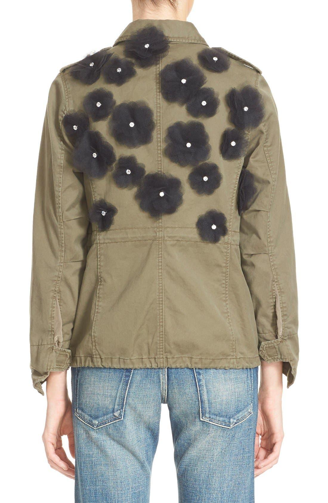 Alternate Image 2  - Tu es mon TRÉSOR Tulle Flower Military Jacket