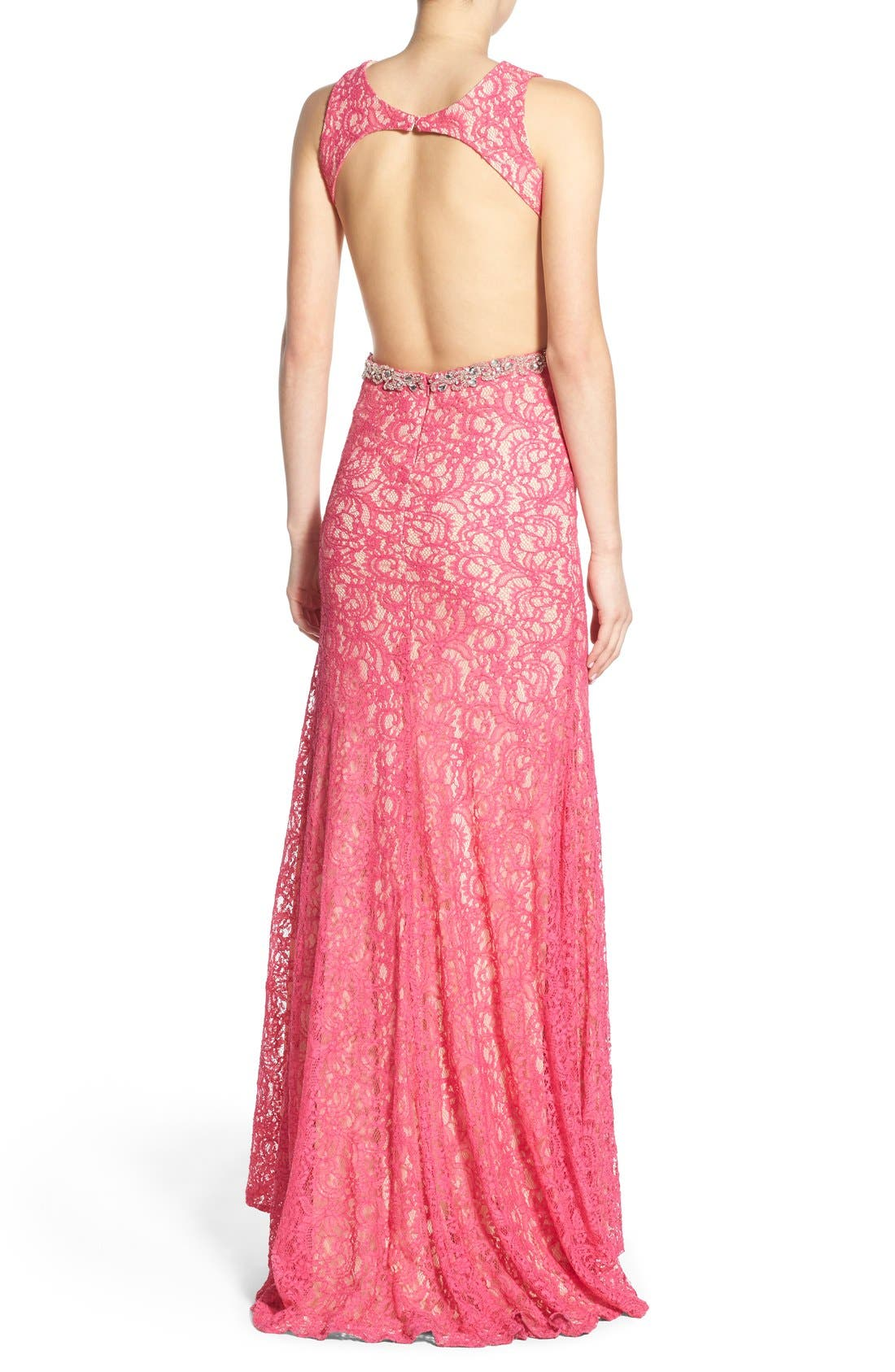 Alternate Image 2  - Mac Duggal Lace Cutout Gown