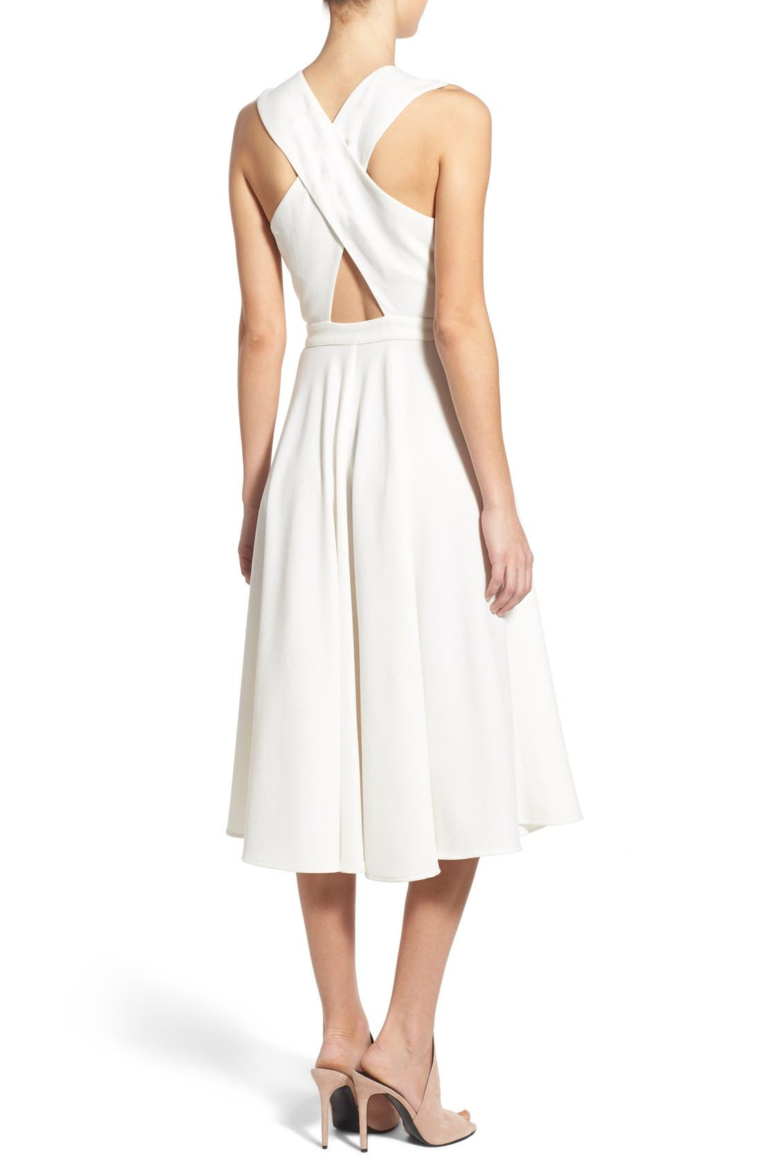 Alternate Image 2  - KENDALL + KYLIE Crossover Bodice Midi Dress