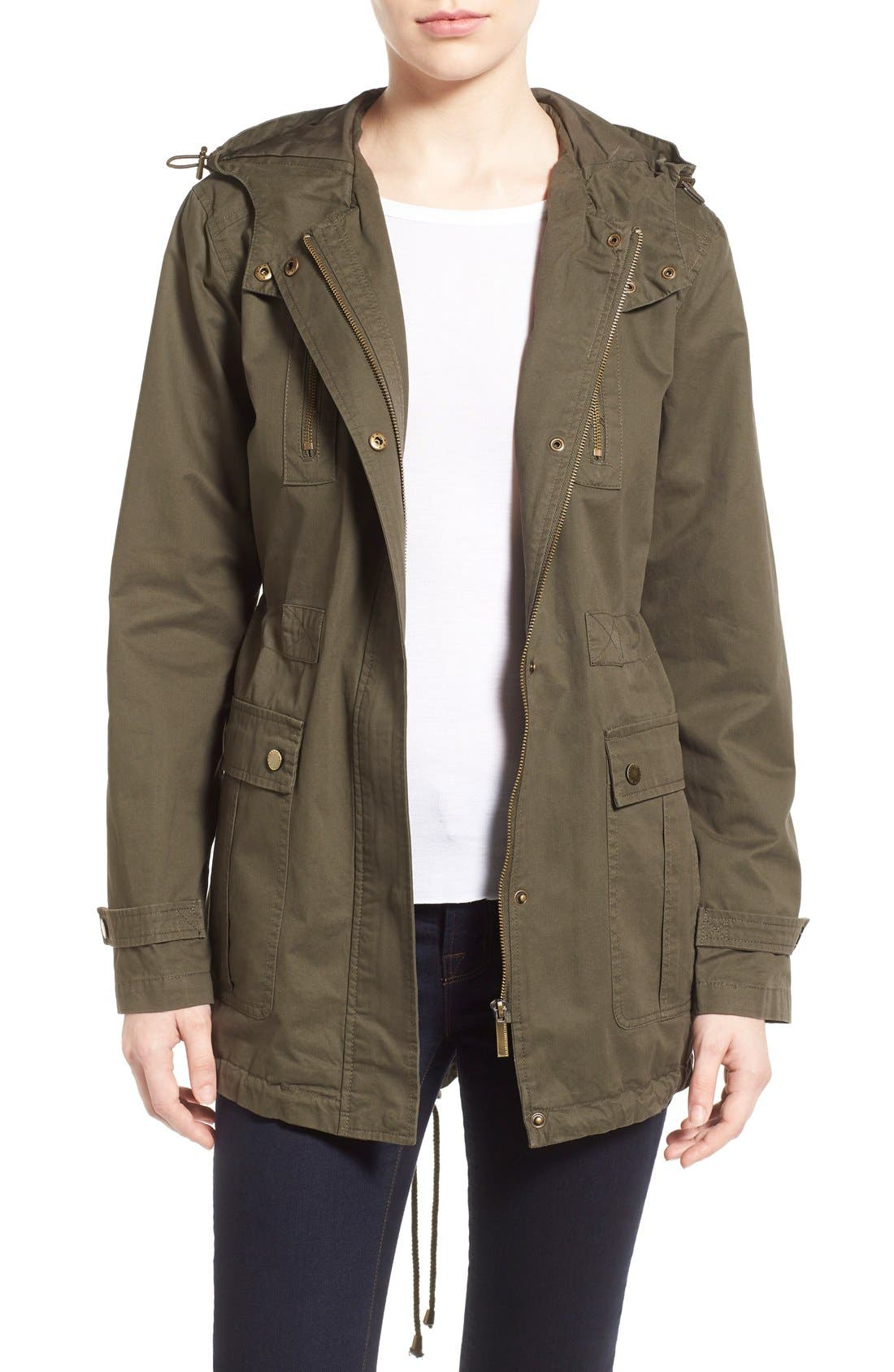 Alternate Image 1 Selected - French Connection Relaxed Cotton Utility Jacket