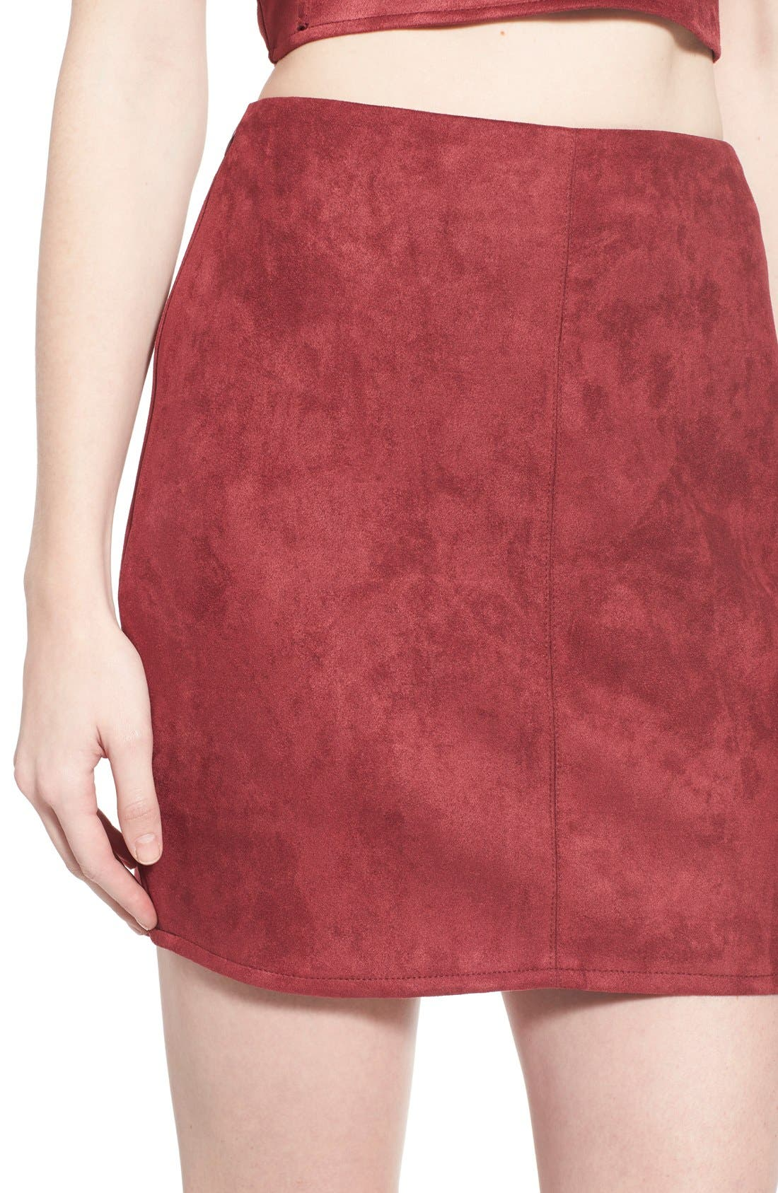 Alternate Image 5  - Missguided Faux Suede Miniskirt