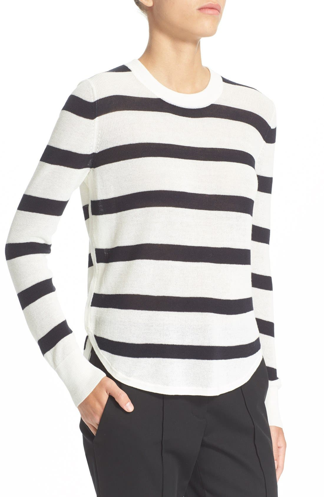 Alternate Image 1 Selected - A.L.C. 'Riley' Stripe Cotton Sweater