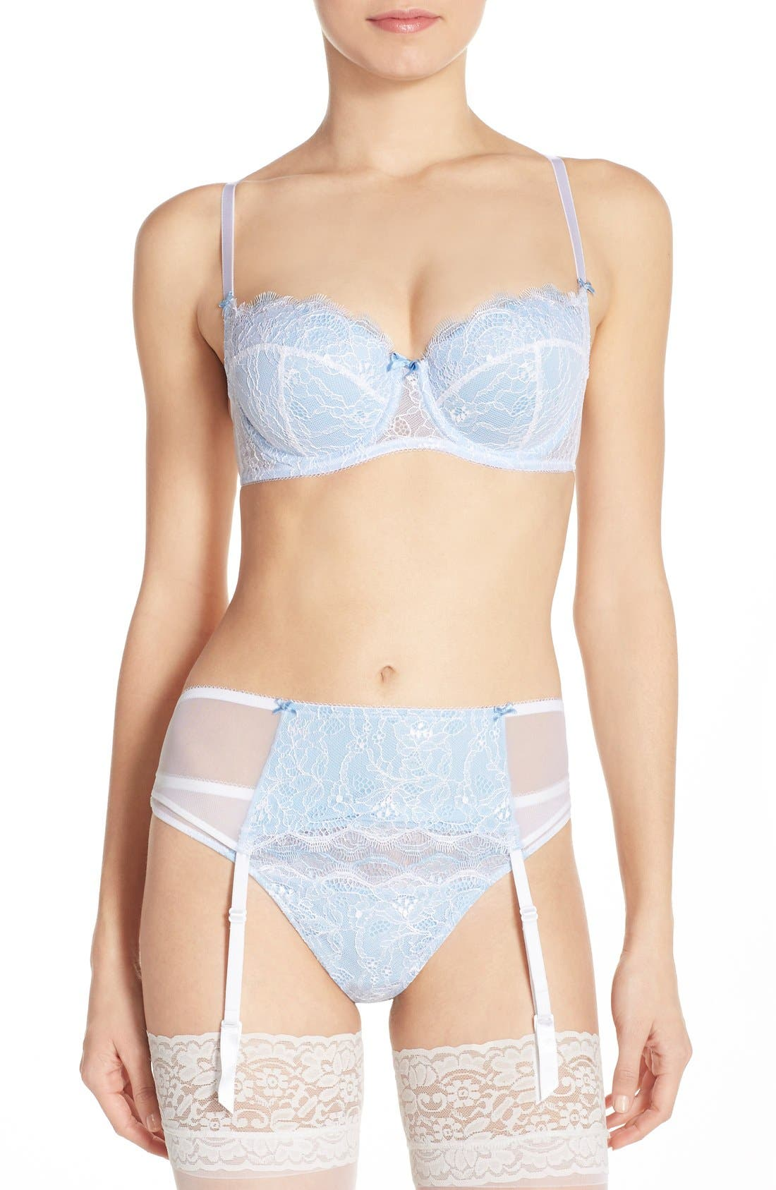 b.tempt'd by Wacoal 'b.sultry' Bra, Thong & Garter Belt