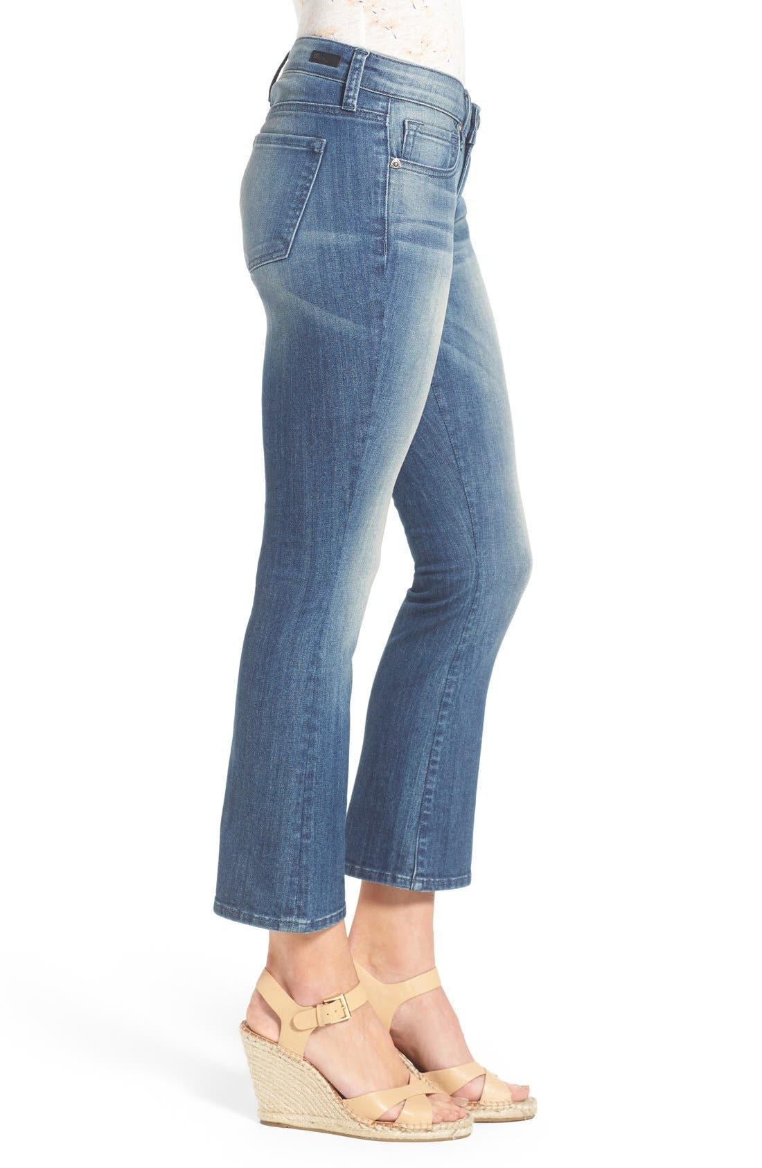Alternate Image 3  - KUT from the Kloth 'Reese' Crop Flare Leg Jeans (Primo)