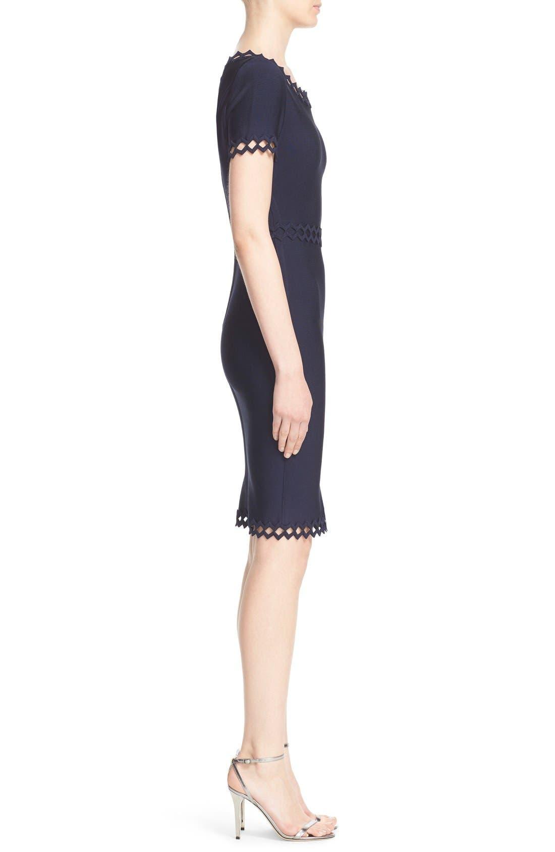 Alternate Image 5  - Herve Leger Openwork Diamond Trim Bandage Dress
