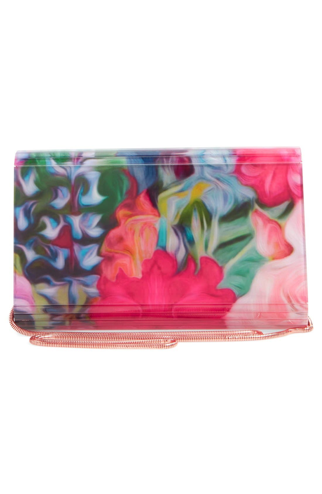Alternate Image 3  - Ted Baker London 'Floriza - Floral Swirl' Resin Flap Clutch