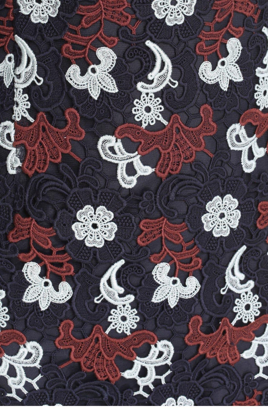 Alternate Image 5  - Tory Burch Cap Sleeve Guipure Lace Dress