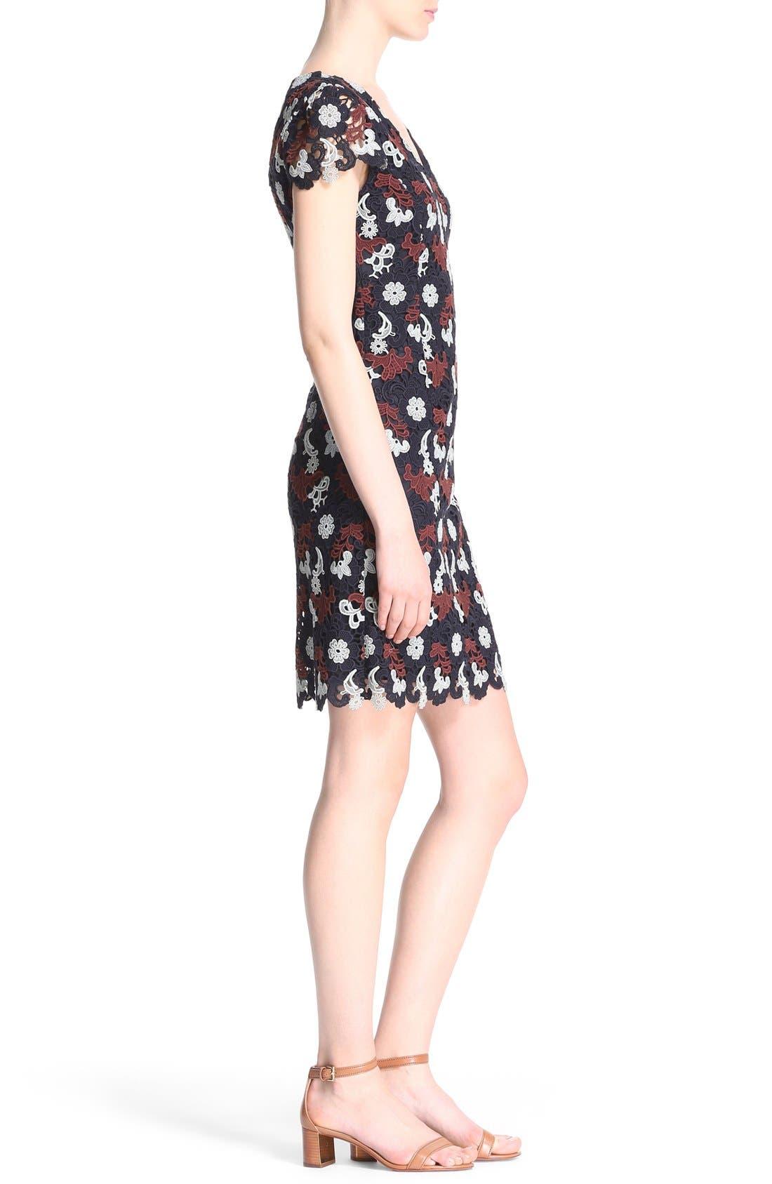 Alternate Image 3  - Tory Burch Cap Sleeve Guipure Lace Dress