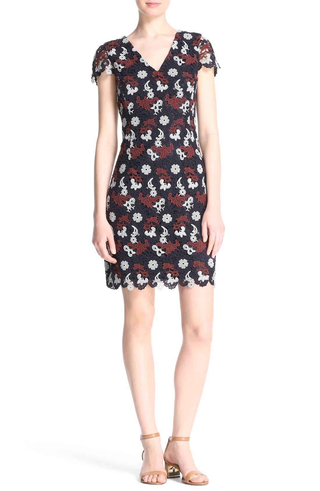 Alternate Image 1 Selected - Tory Burch Cap Sleeve Guipure Lace Dress