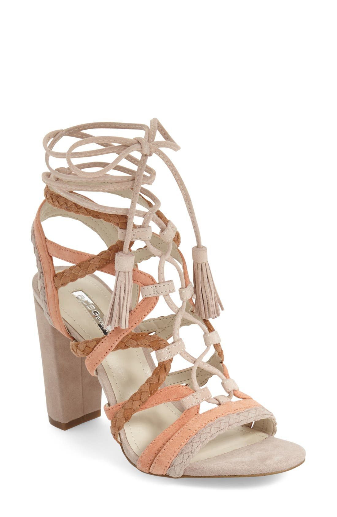 Alternate Image 1 Selected - BCBGeneration 'Ronny' Lace-Up Sandal (Women)