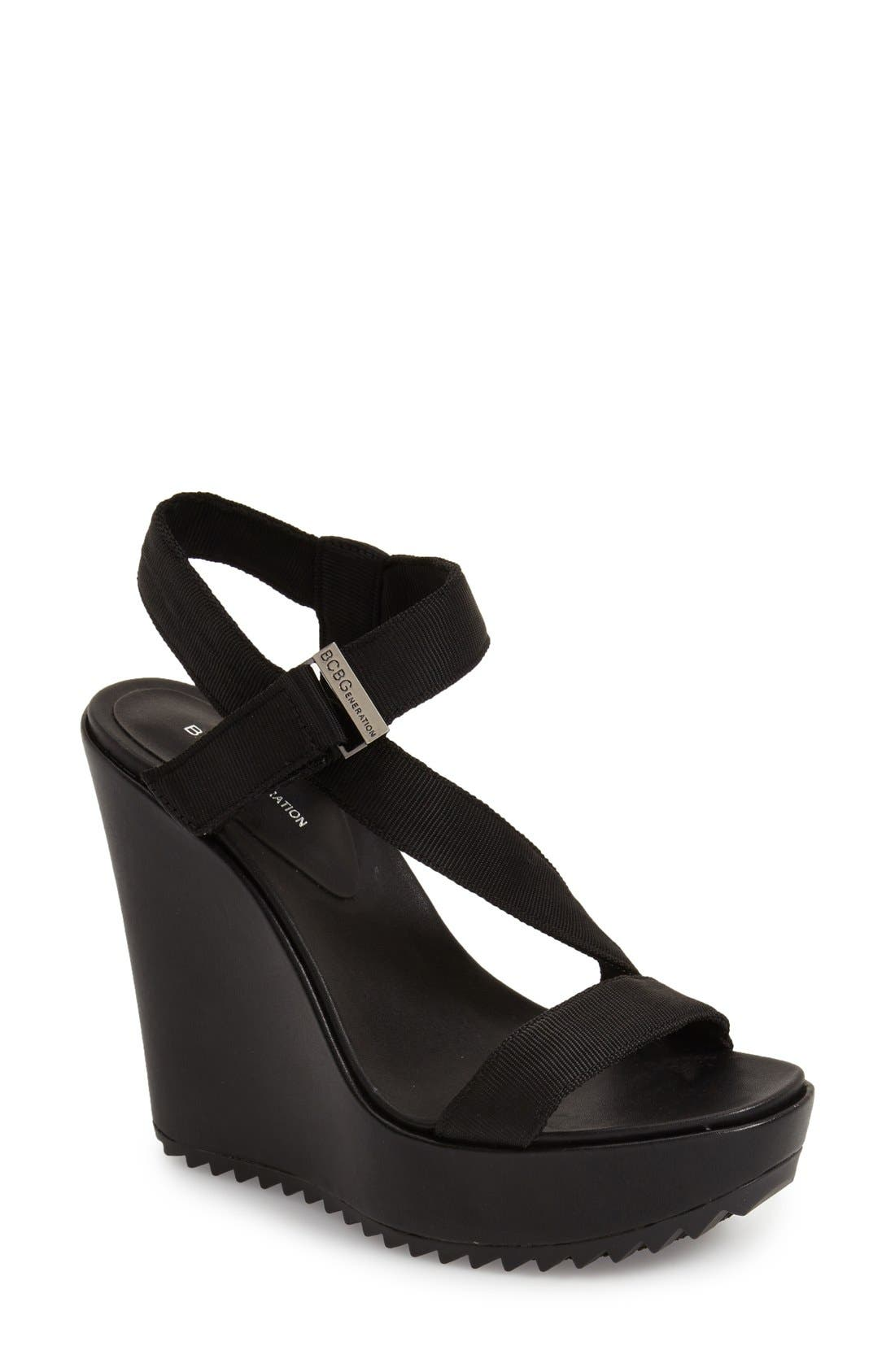 Main Image - BCBGeneration 'Carille' Wedge Sandal (Women)