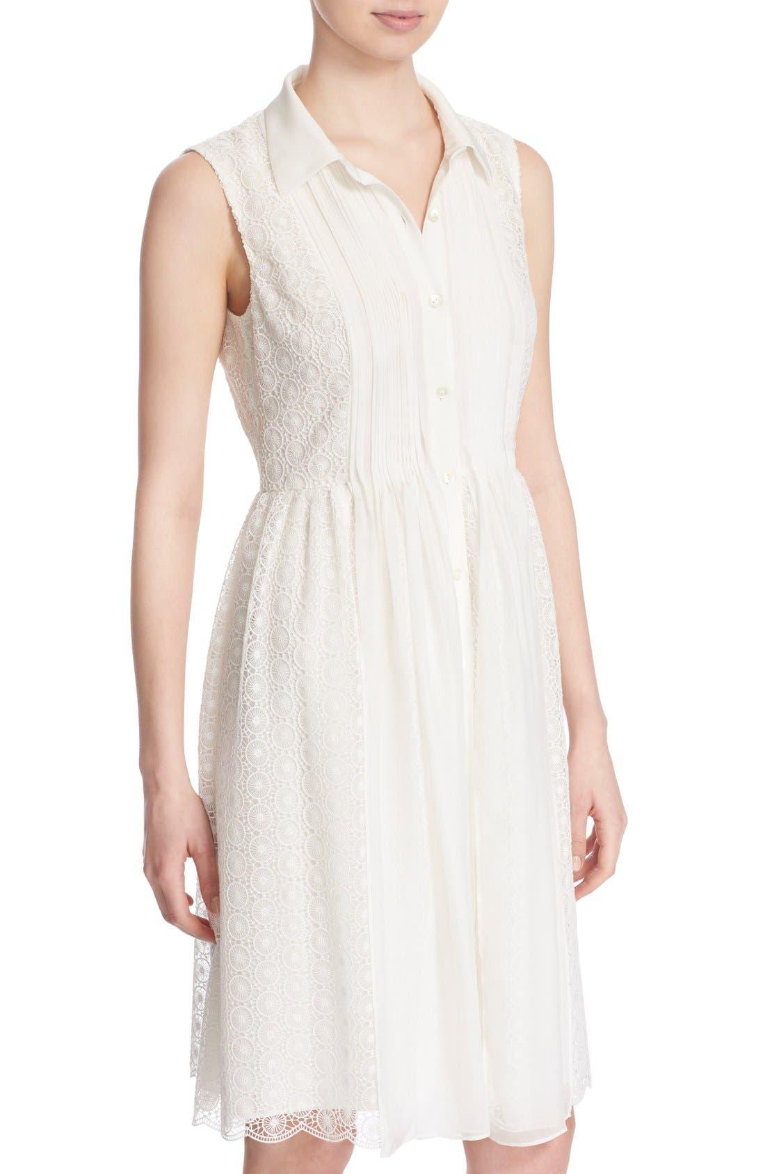 Alternate Image 4  - Diane von Furstenberg 'Nieves' Sleeveless Lace Shirtdress