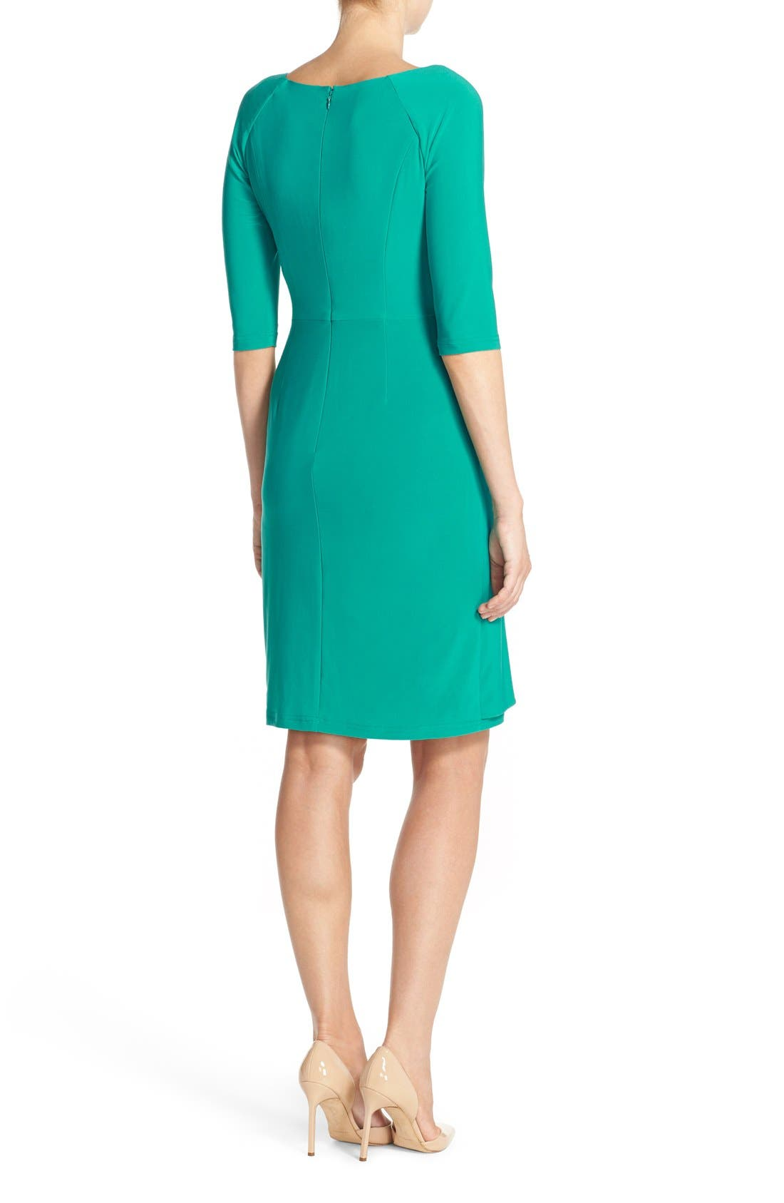 Alternate Image 2  - Adrianna Papell Jersey Faux Wrap Dress