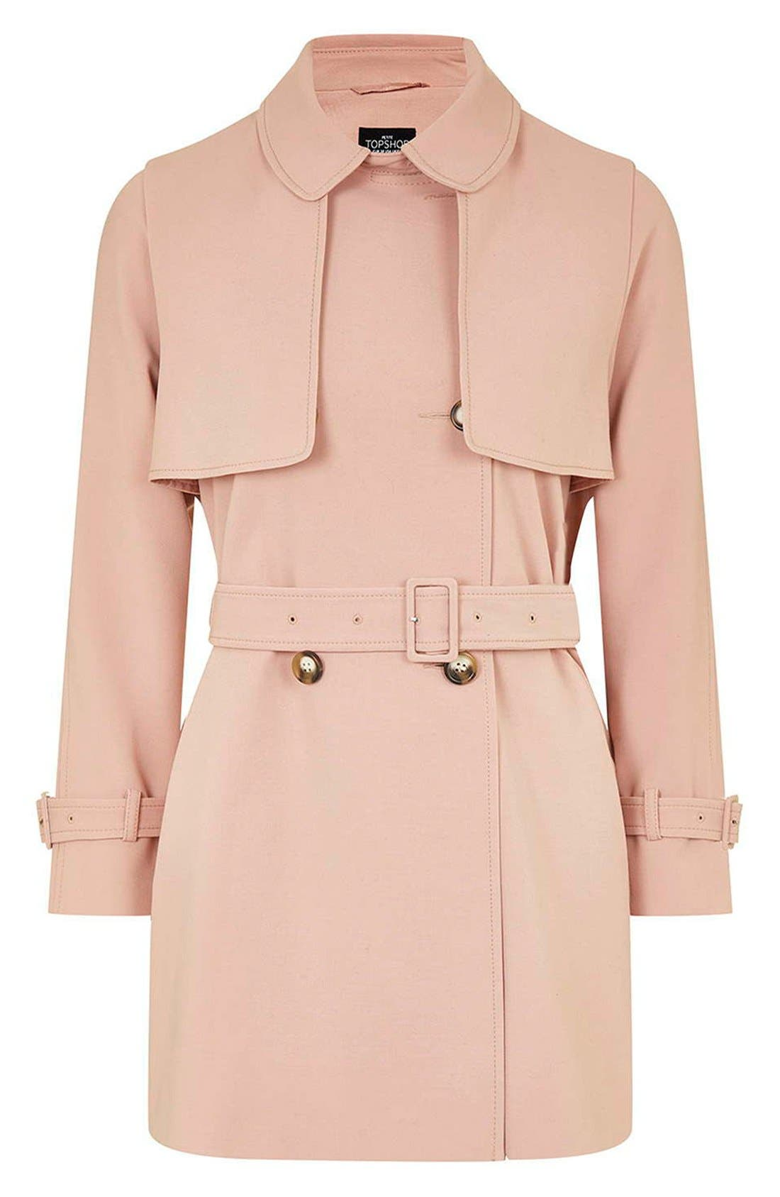 Alternate Image 4  - Topshop Belted Double Breasted Trench Coat