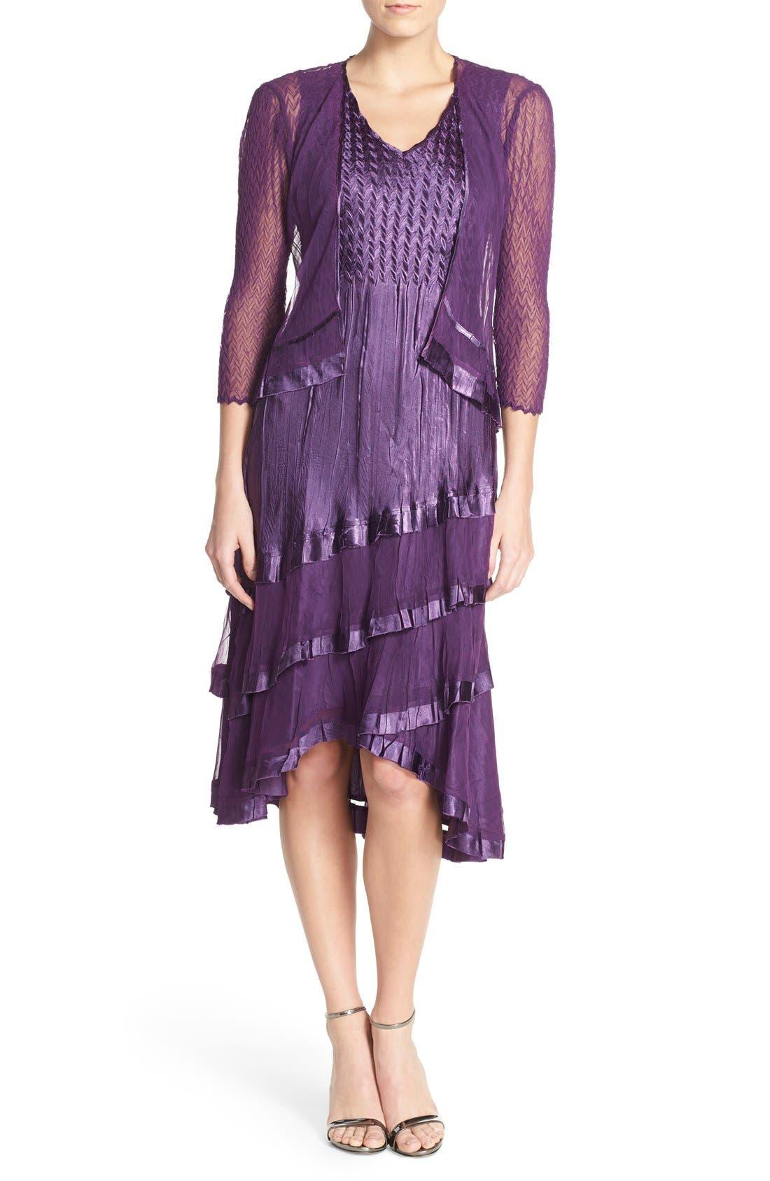 KOMAROV Charmeuse A-Line Dress & Jacket