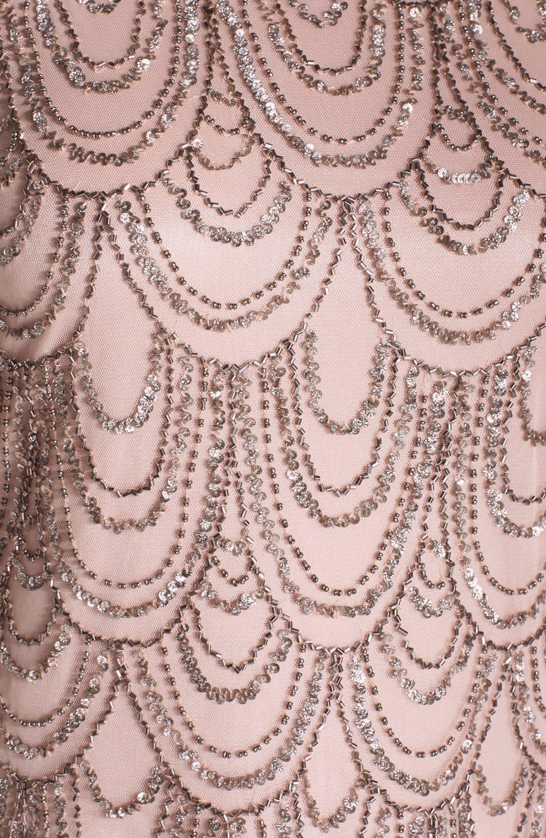 Alternate Image 5  - J Kara Scallop Embellished Popover Chiffon Gown