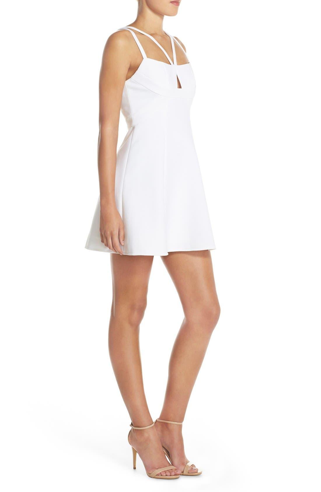 Alternate Image 3  - BCBGMAXAZRIA 'Charlot' Cutout Crepe Fit & Flare Dress