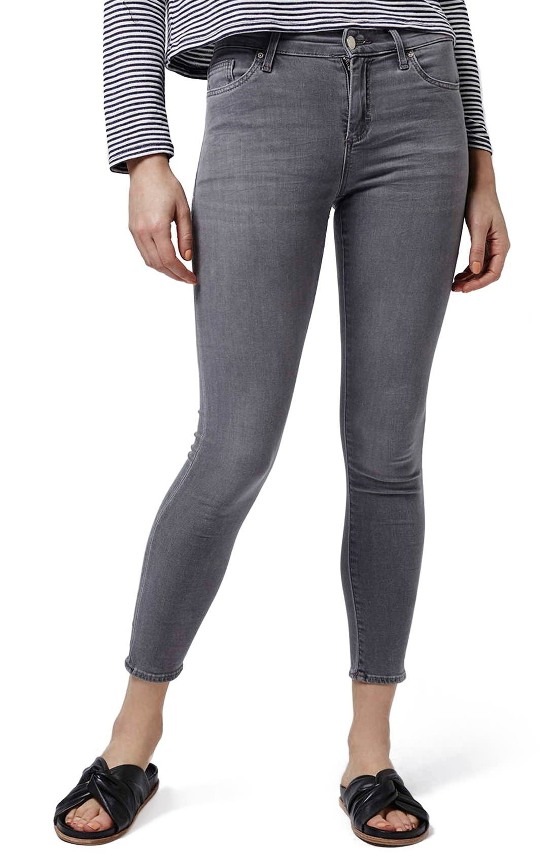Main Image - Topshop 'Leigh' Ankle Skinny Jeans (Petite)