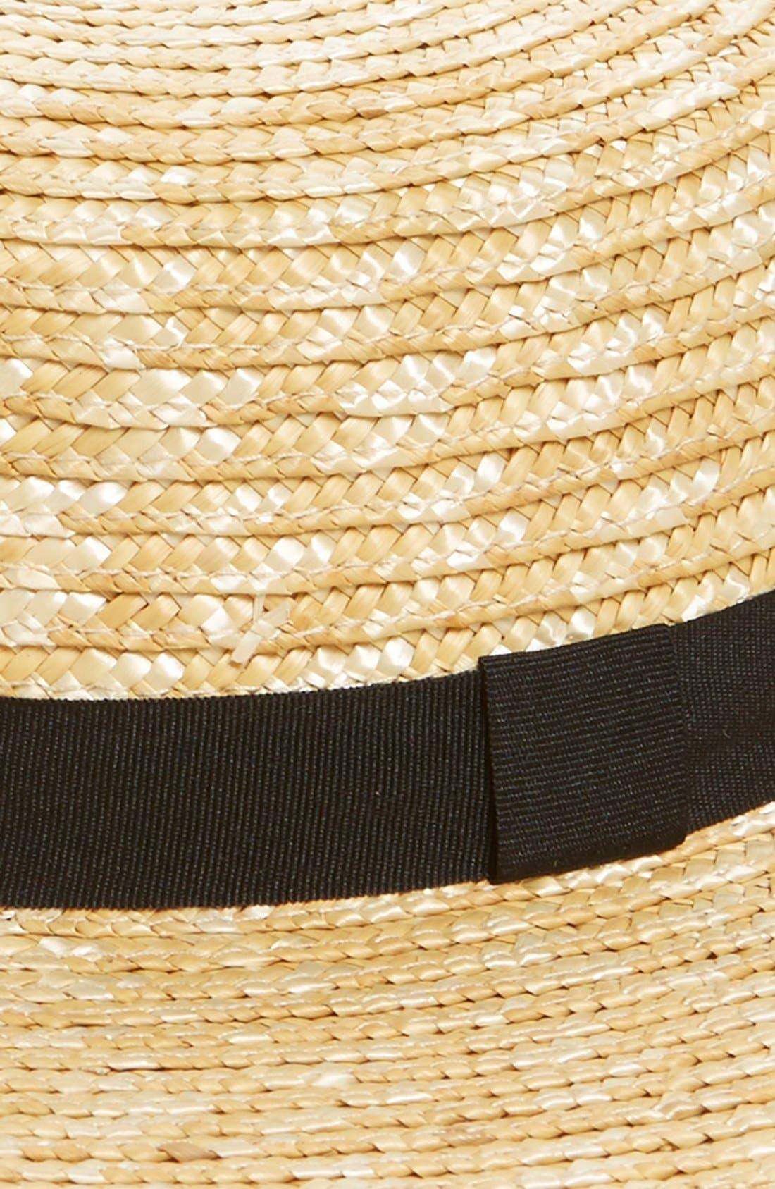 Alternate Image 2  - BP. Straw Boater Hat