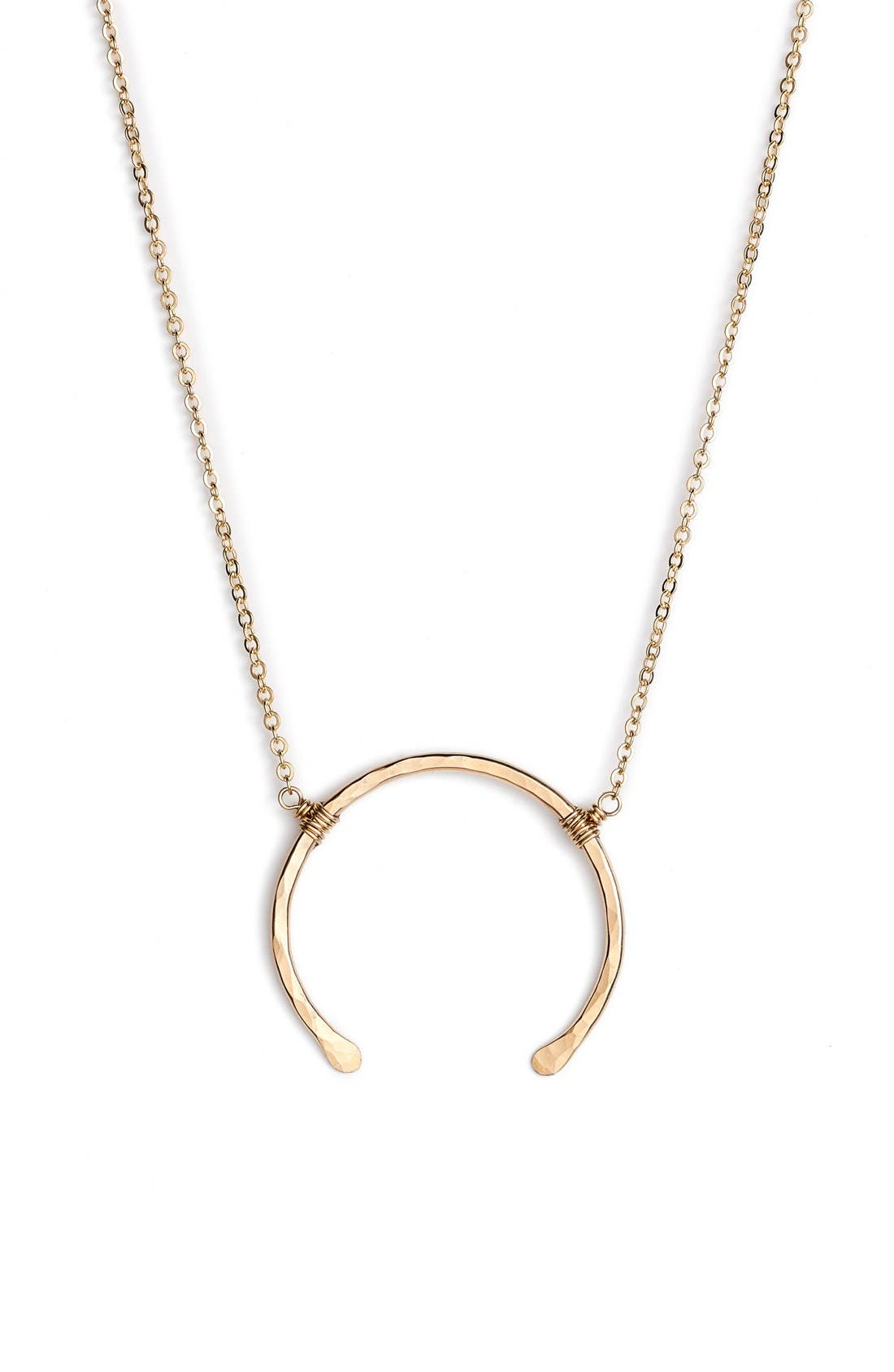 NASHELLE 'Imogen' Crescent Pendant Necklace