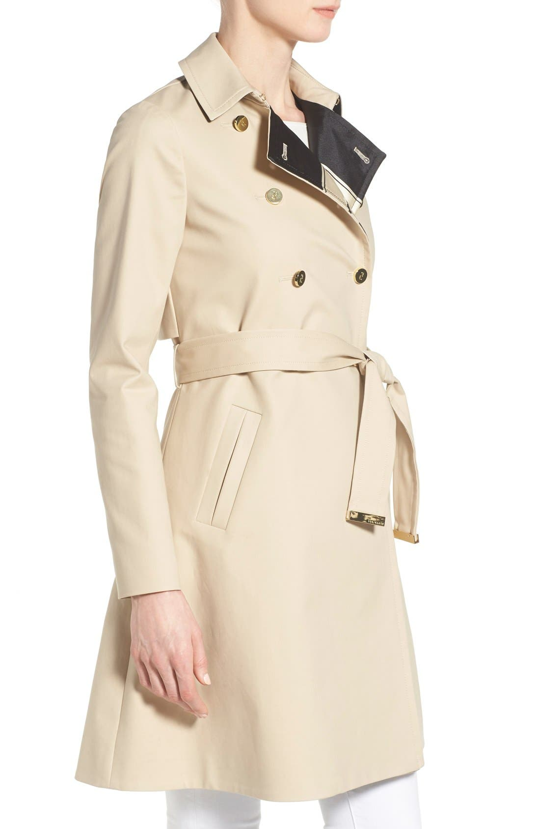 Alternate Image 3  - Ted Baker London Belted A-Line Macintosh Coat