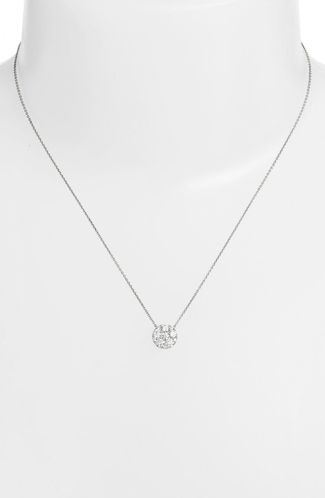 Alternate Image 2  - Bony Levy 'Mika' Pavé Diamond Large Circle Pendant Necklace (Nordstrom Exclusive)