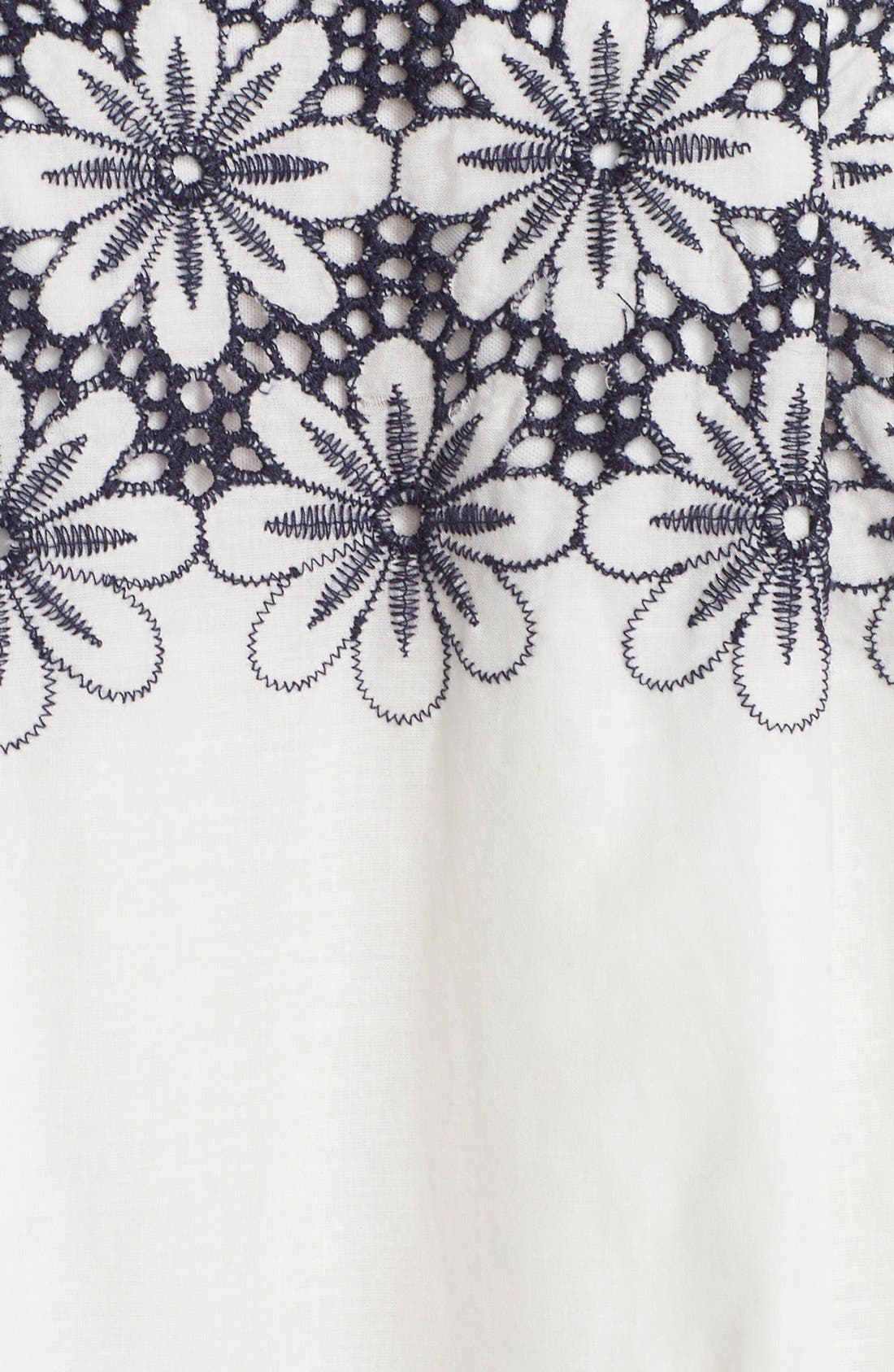 Alternate Image 6  - Taylor Dresses Embroidered Fit & Flare Dress