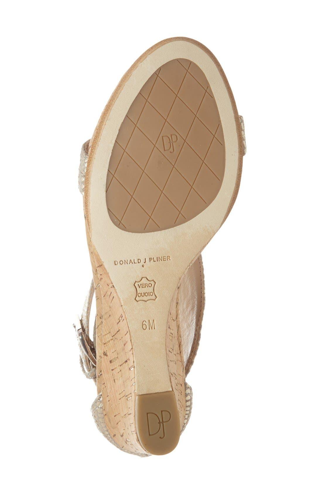 Alternate Image 4  - Donald J Pliner 'June' T-Strap Wedge Sandal (Women)
