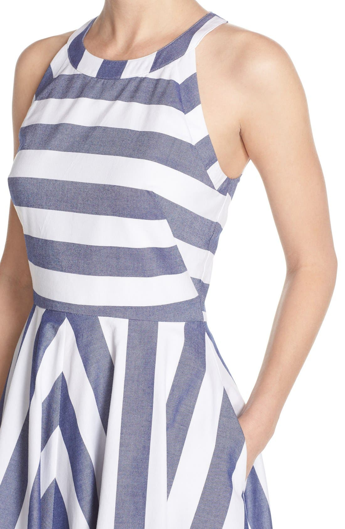 Alternate Image 4  - Eliza J Cotton Fit & Flare Dress