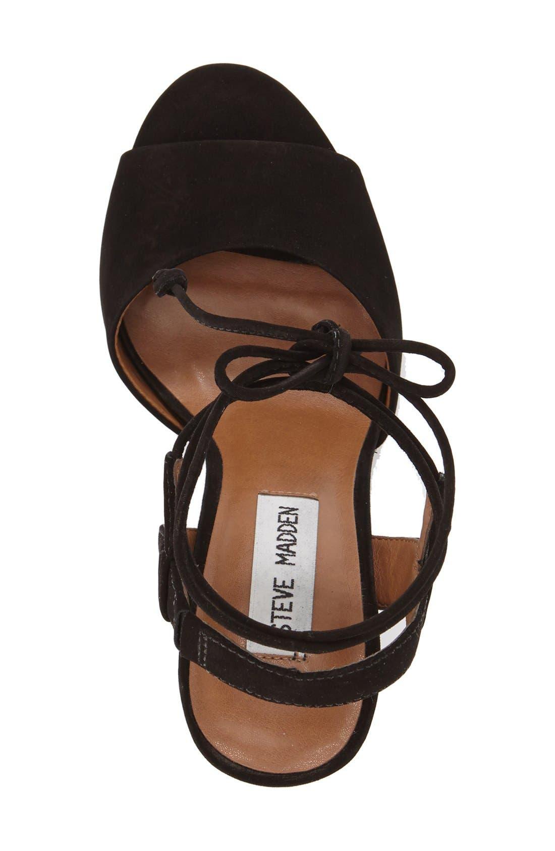 Alternate Image 3  - Steve Madden 'Serrina' Block Heel Lace Up Sandal (Women)