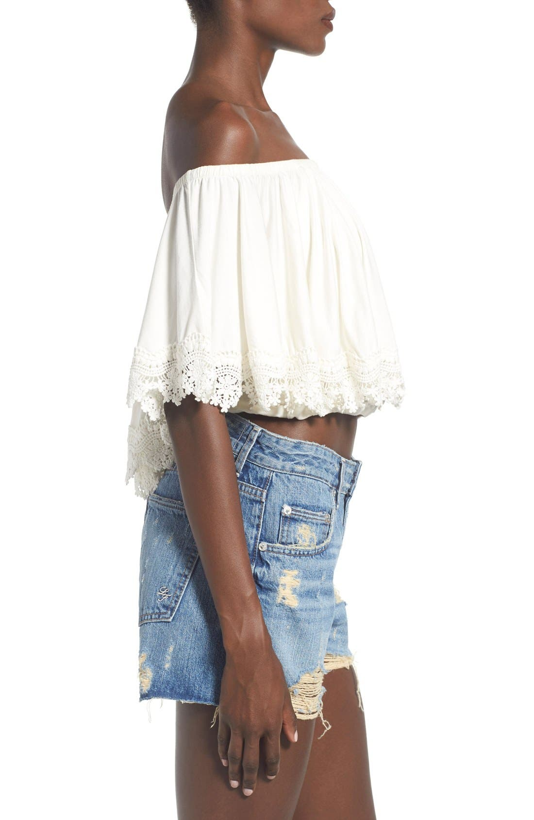 Alternate Image 3  - Lovers + Friends 'Love Me' Off the Shoulder Top