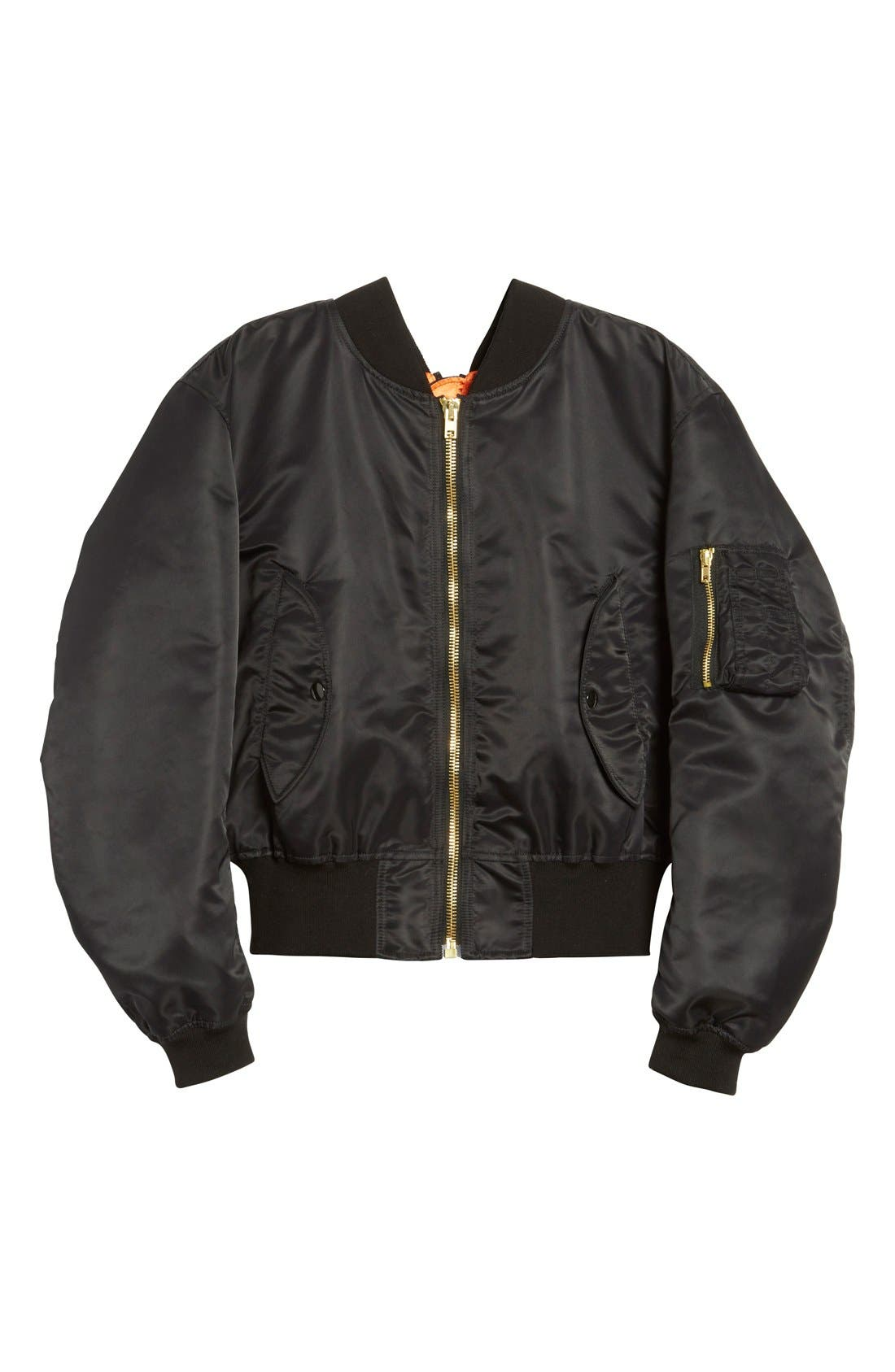 Alternate Image 4  - Vetements Nylon Bomber Jacket