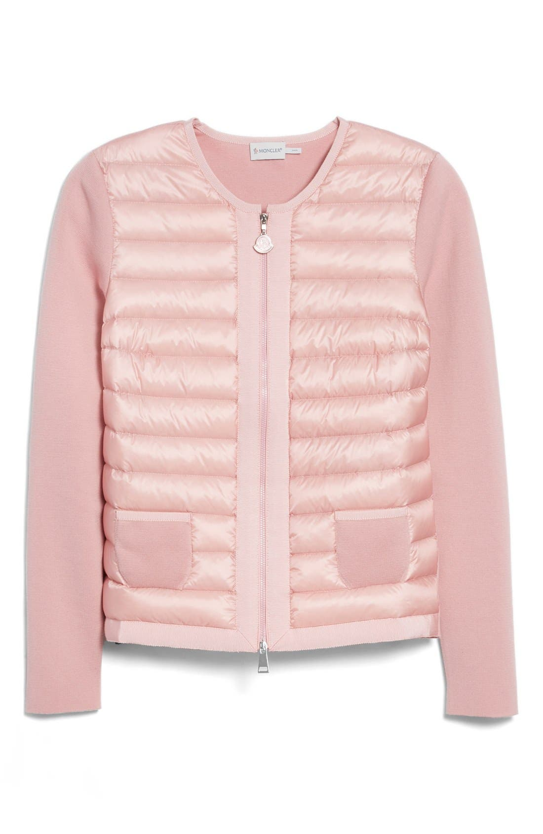 Alternate Image 4  - Moncler 'Maglia' Quilted Down Front Tricot Cardigan