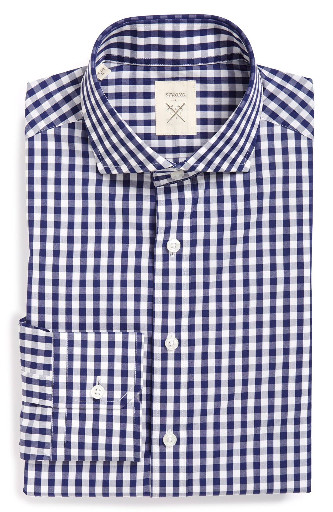 Strong Suit 'Elan' Trim Fit Check Dress Shirt