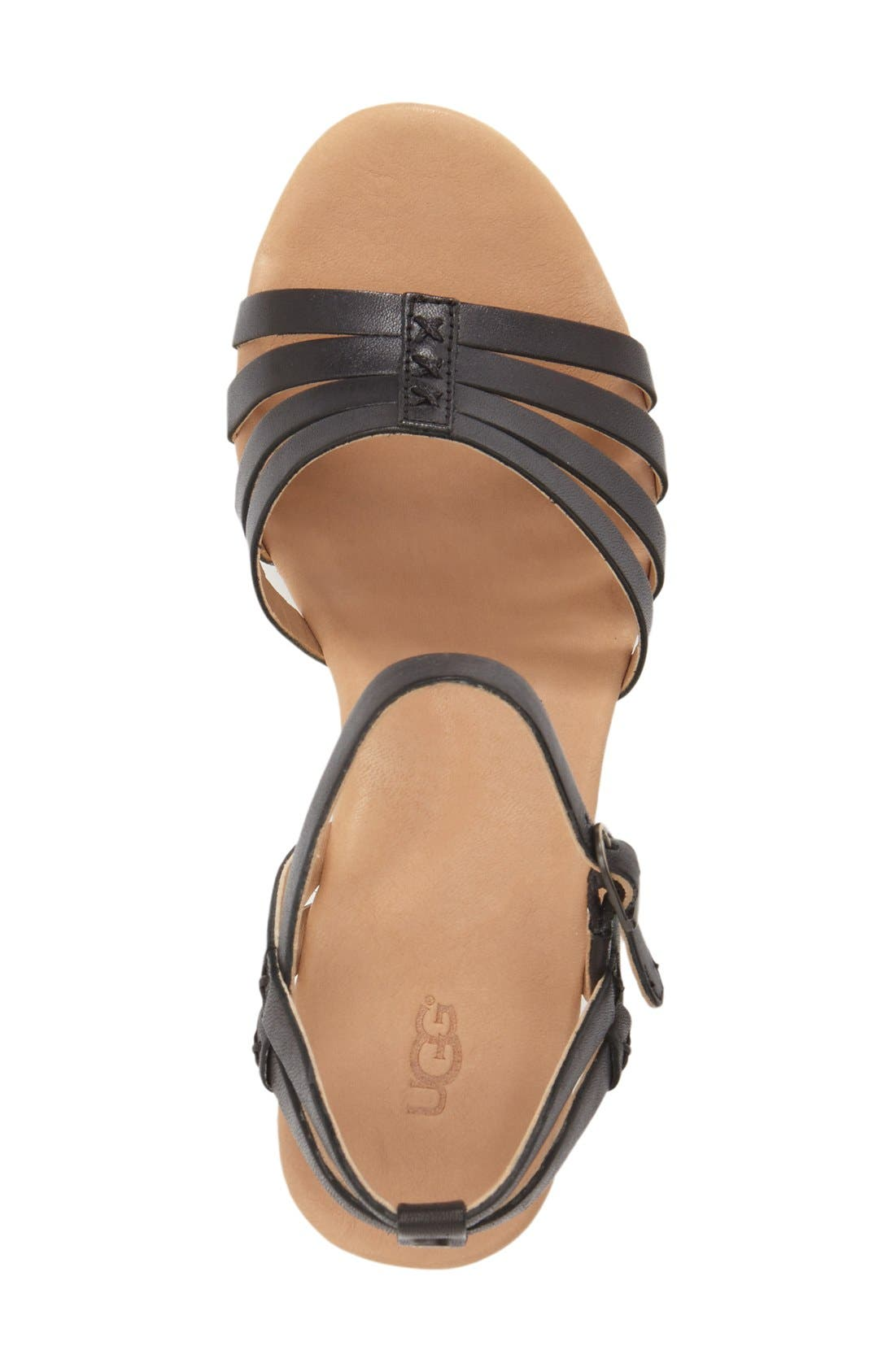 Alternate Image 3  - UGG® 'Brigitte' Wedge Sandal (Women)