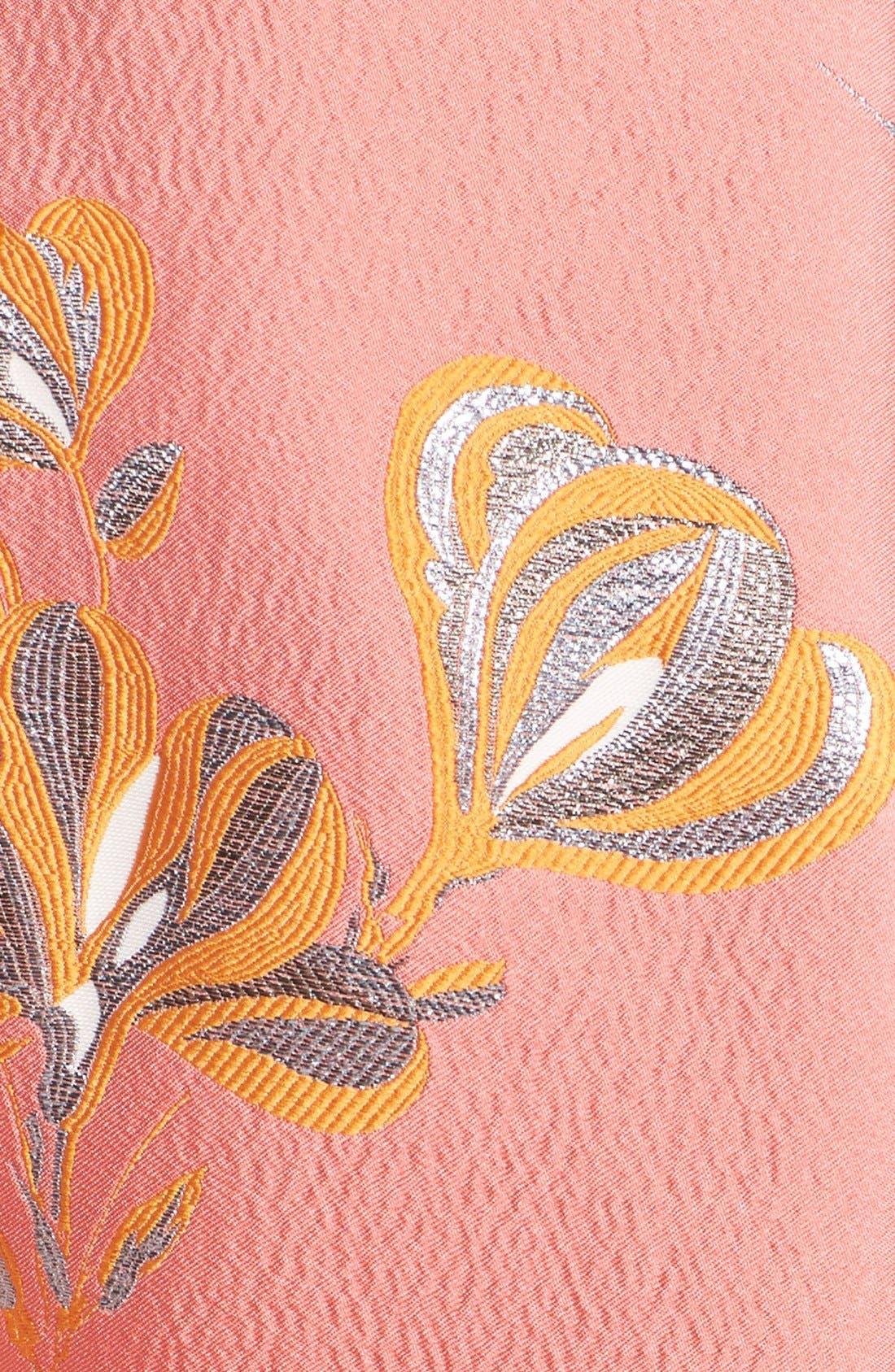 Alternate Image 3  - Lela Rose Vine Jacquard Fit & Flare Dress